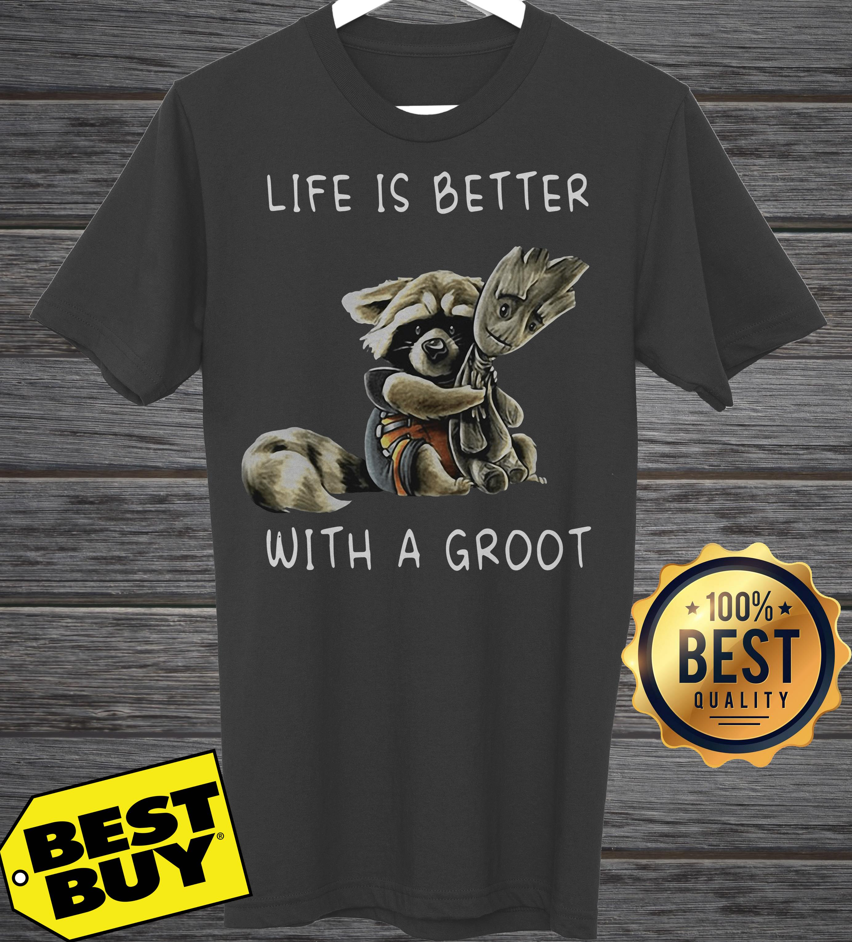 Rocket Racoon Life Is Better With A Groot tank top