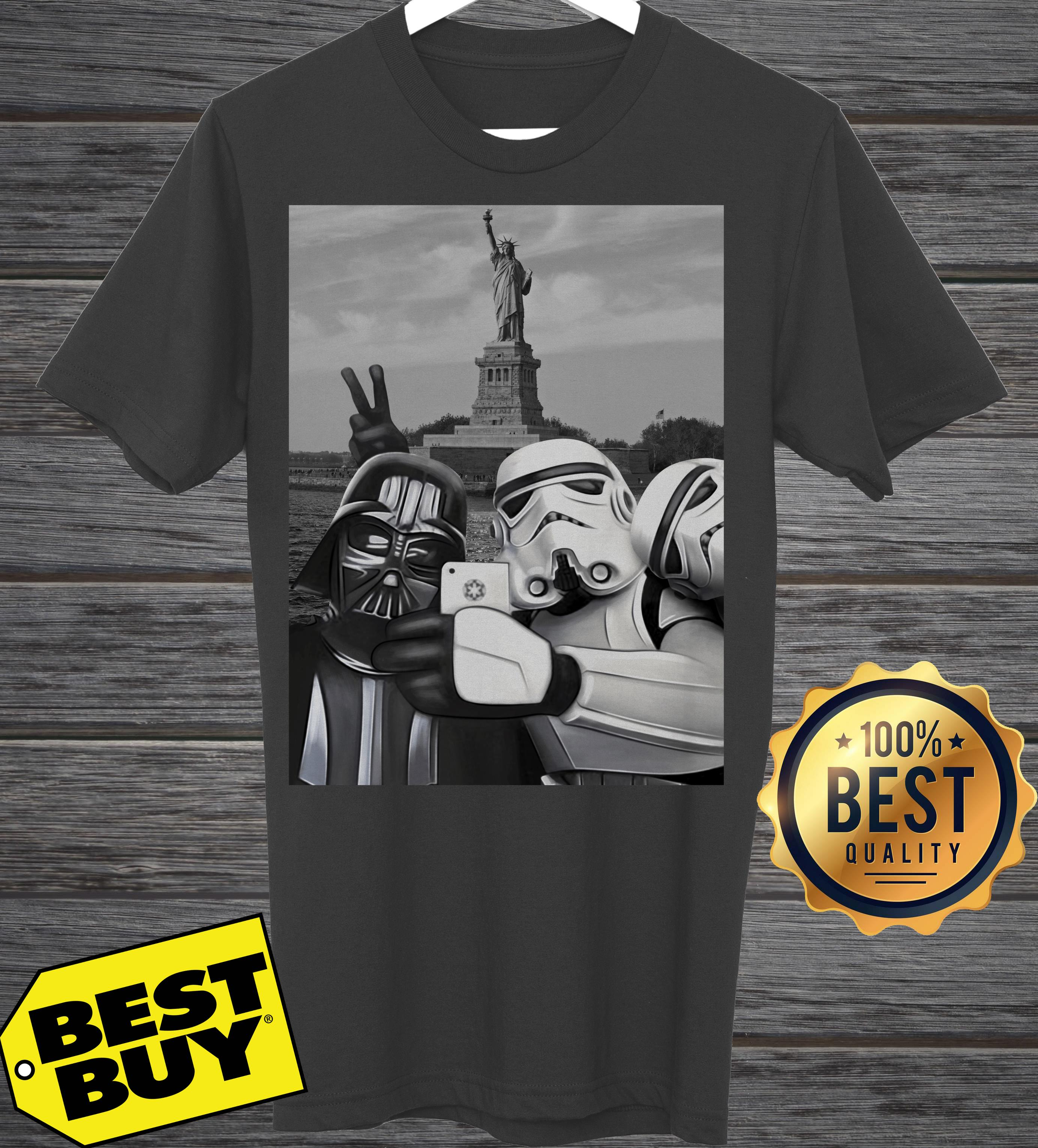 Star Wars Darth Vader And Stormtroopers Take A Selfie tank top