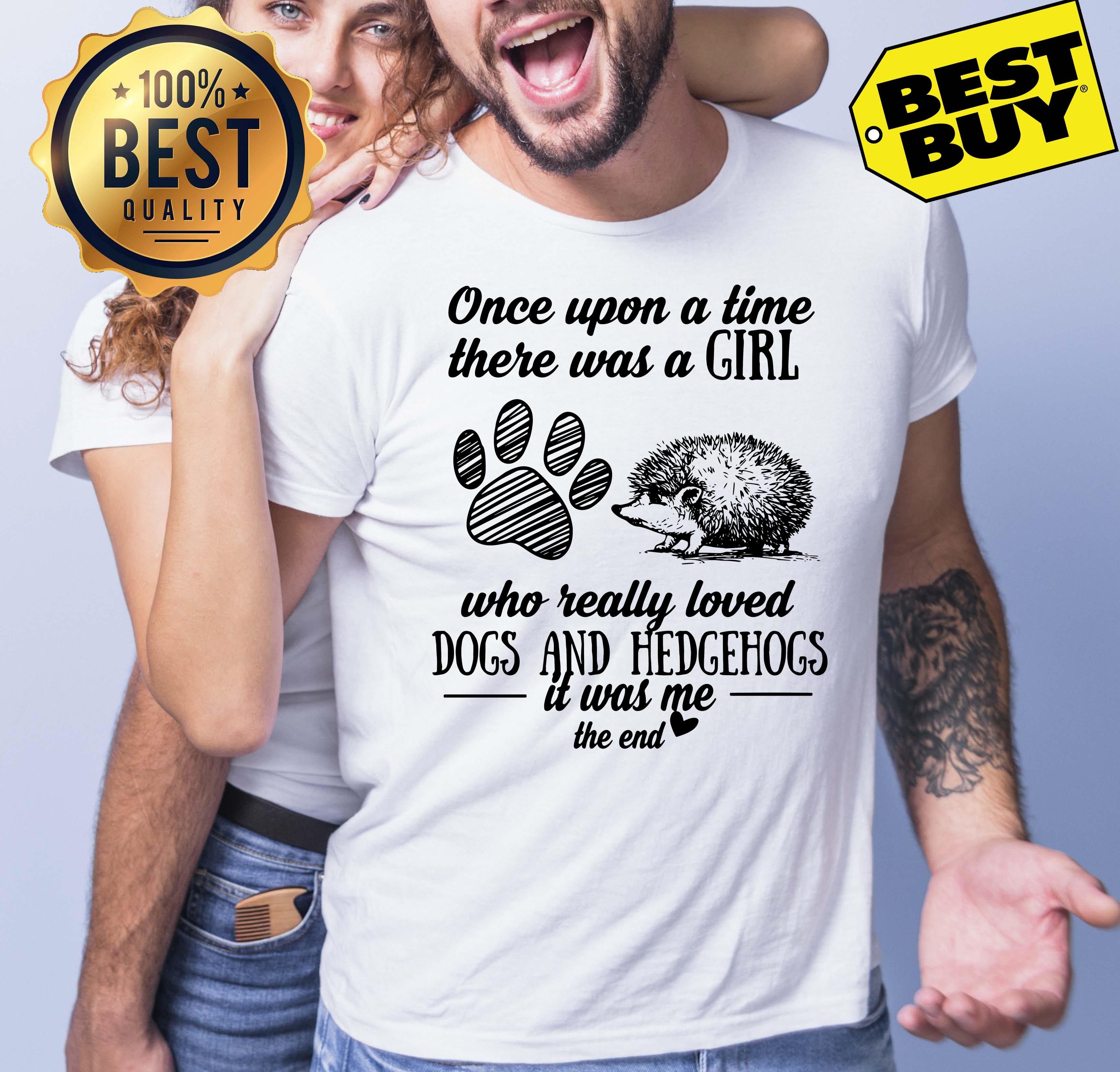 Upon Time Girl Really Loved Dogs Hedgehogs End Tank Top