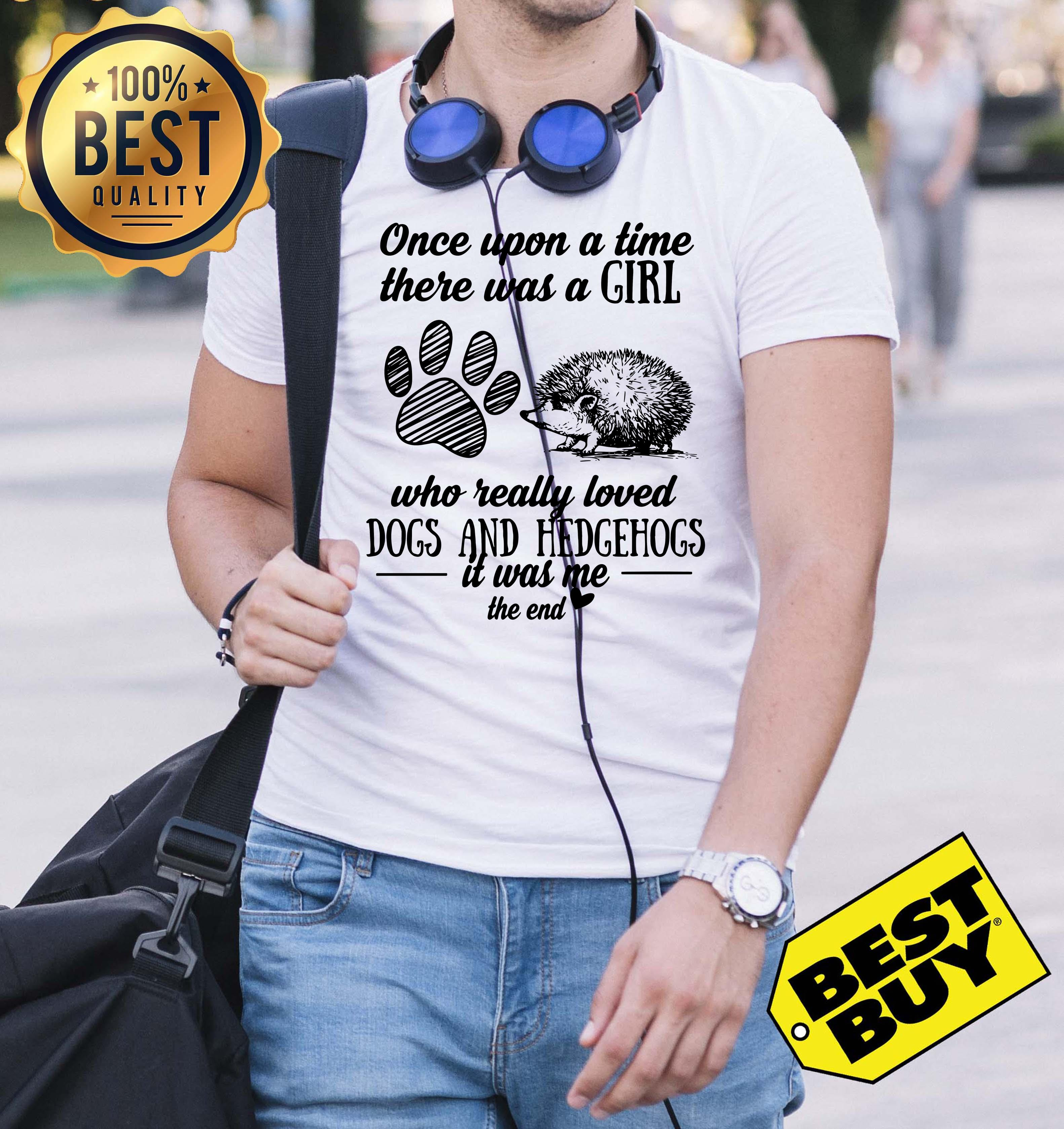 Upon Time Girl Really Loved Dogs Hedgehogs End V Neck