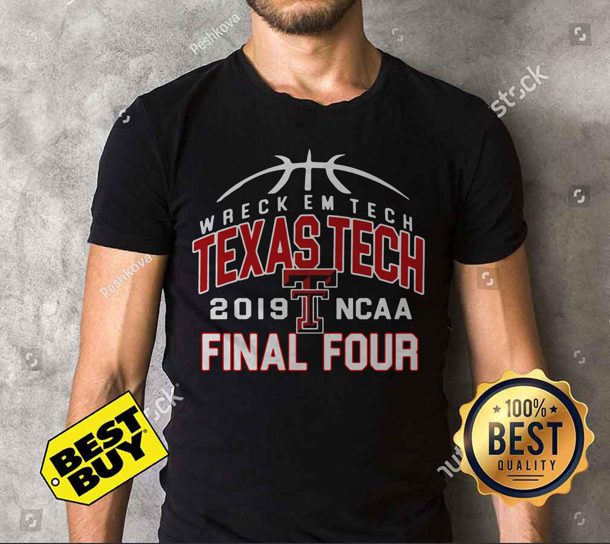 Wreckem Tech Texas Tech 2019 Ncaa Final Four v-neck