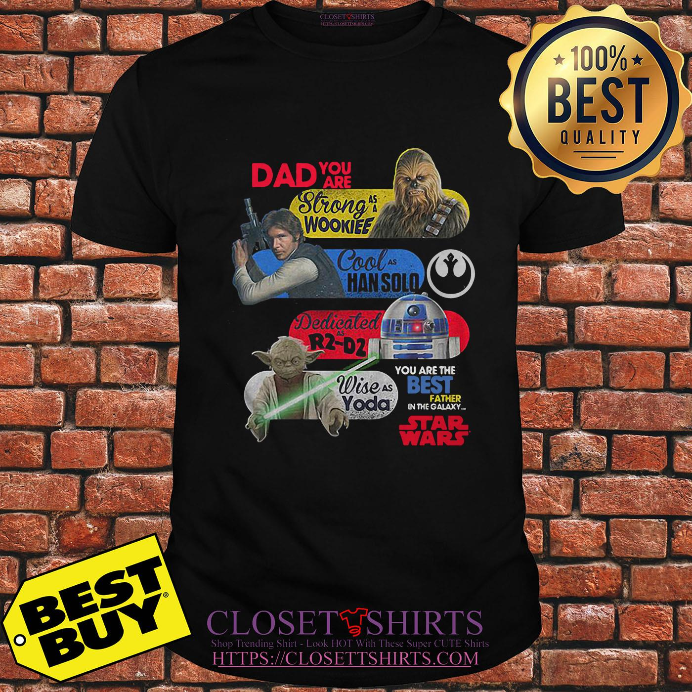 Daddy Star Wars – You Are Strong As Wookiee Han Solo R2 D2 Yoda v-neck