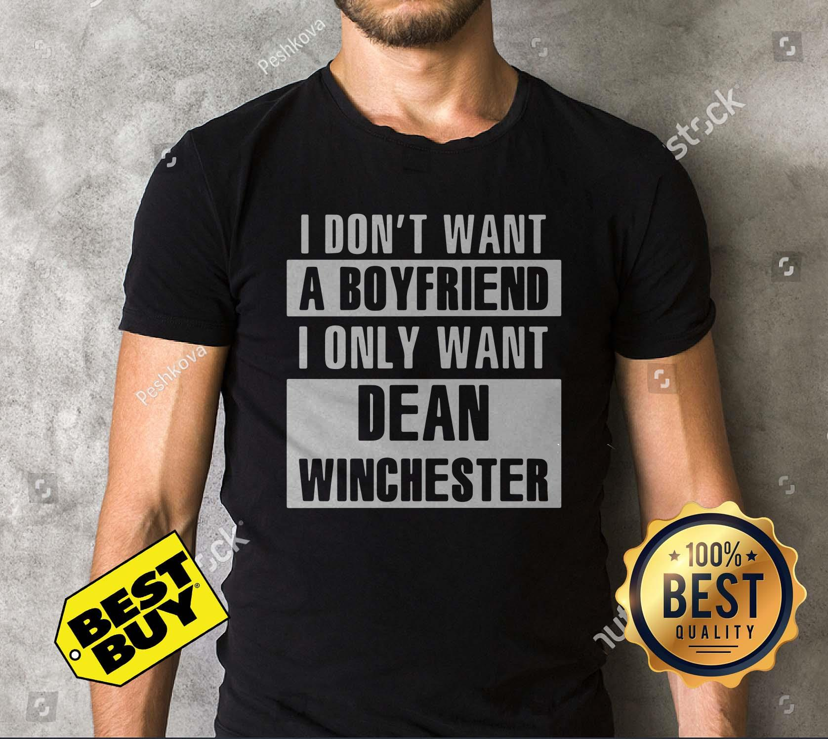 I Don't Want A Boyfriend I Only Want Dean Winchester tank top