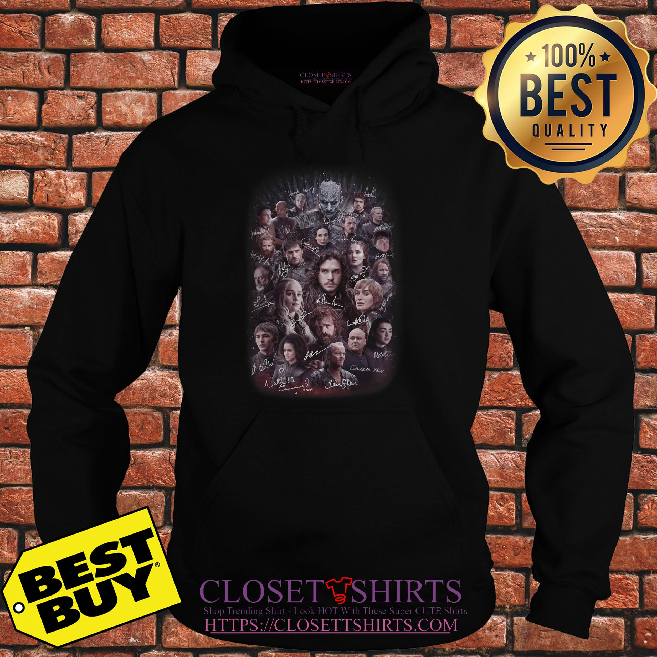 Game Of Thrones All Characters Signature hoodie