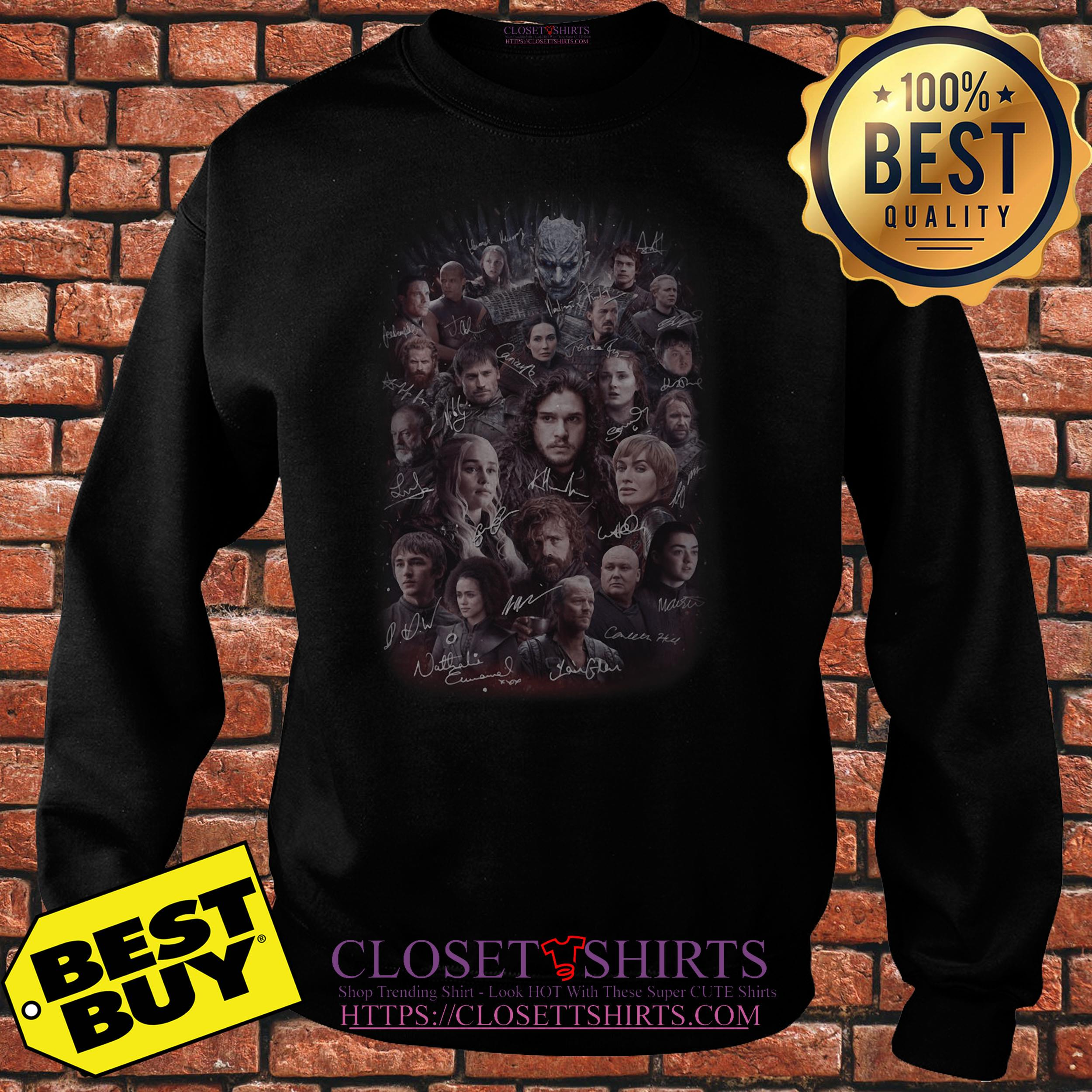 Game Of Thrones All Characters Signature sweatshirt