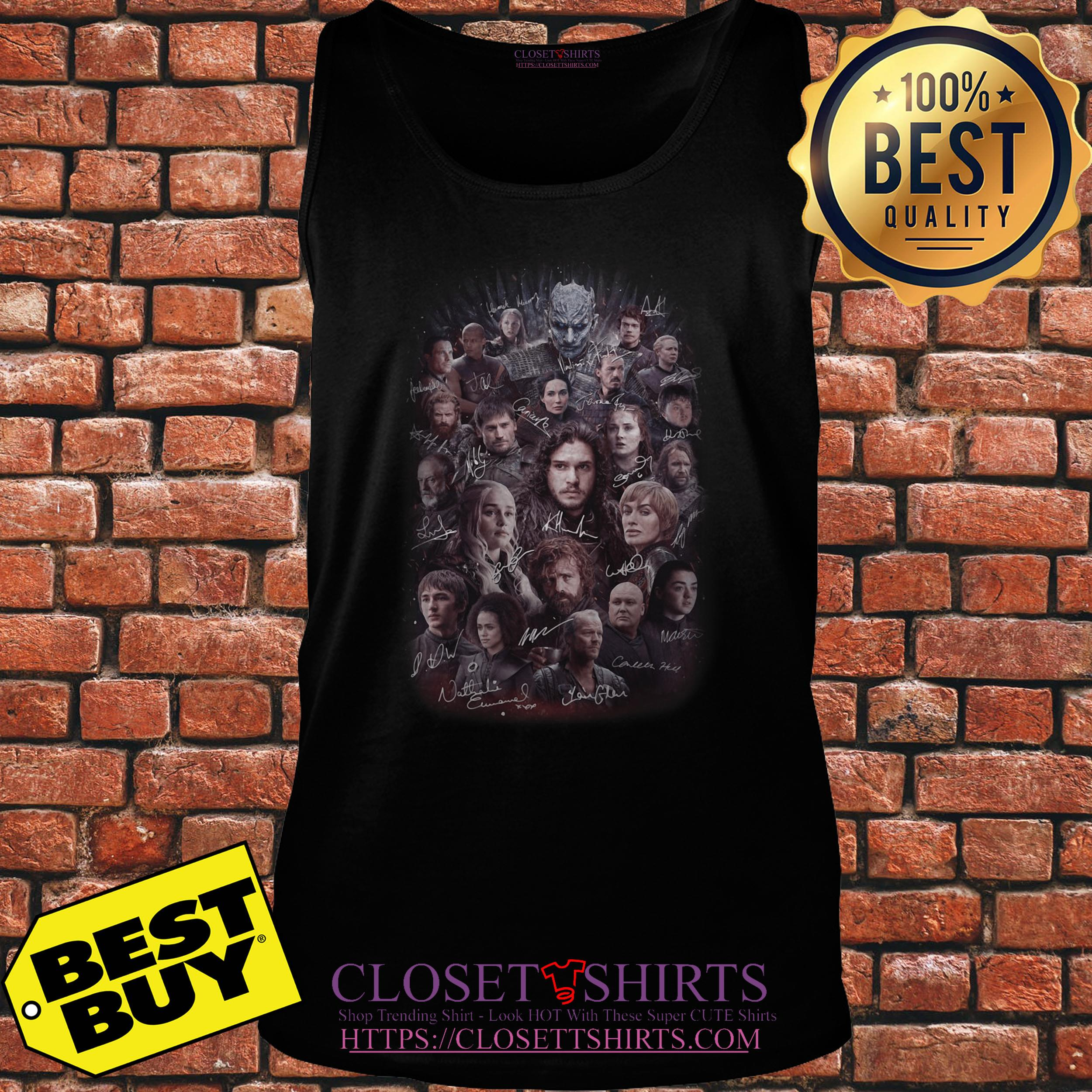Game Of Thrones All Characters Signature tank top