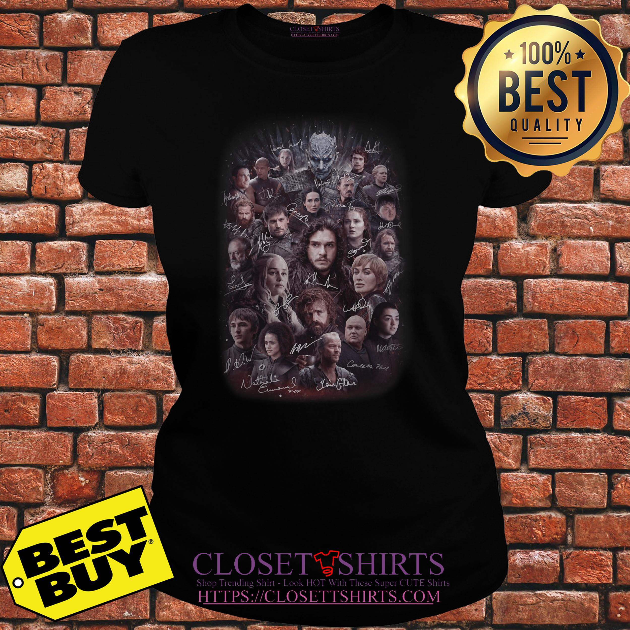 Game Of Thrones All Characters Signature v-neck