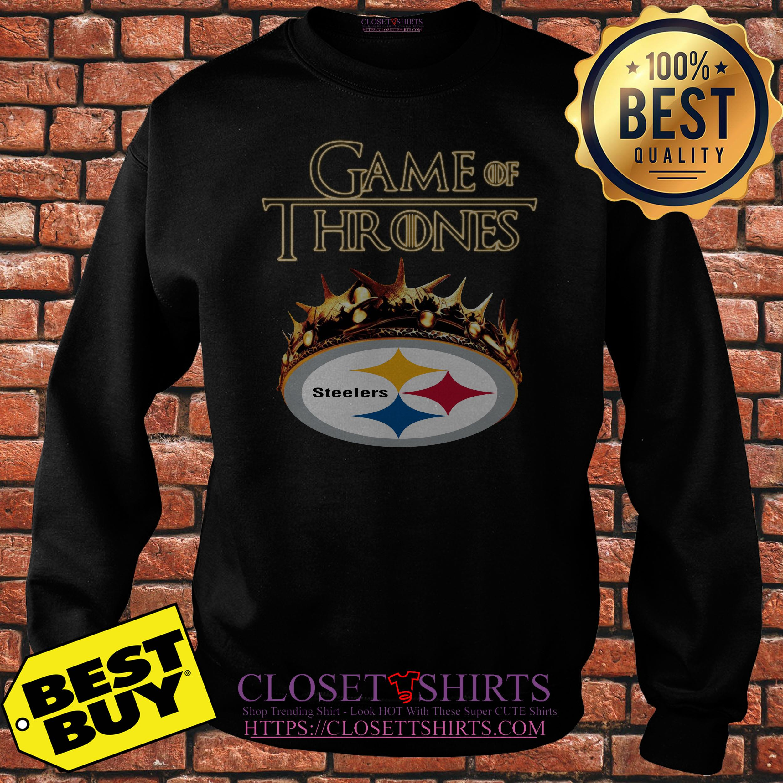 97cc94d02 ... Game Of Thrones Crown Pittsburgh Steelers Sweatshirt