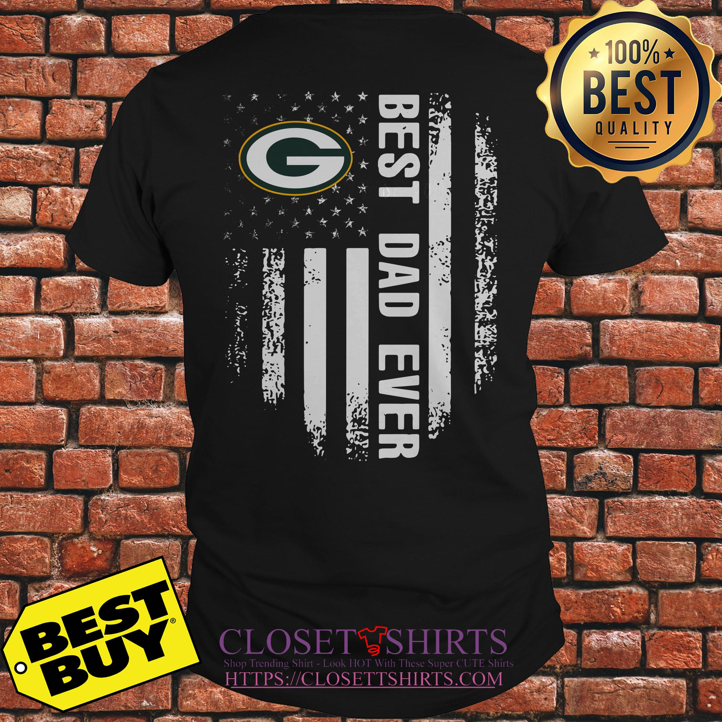 Green Bay Packers best dad ever shirt