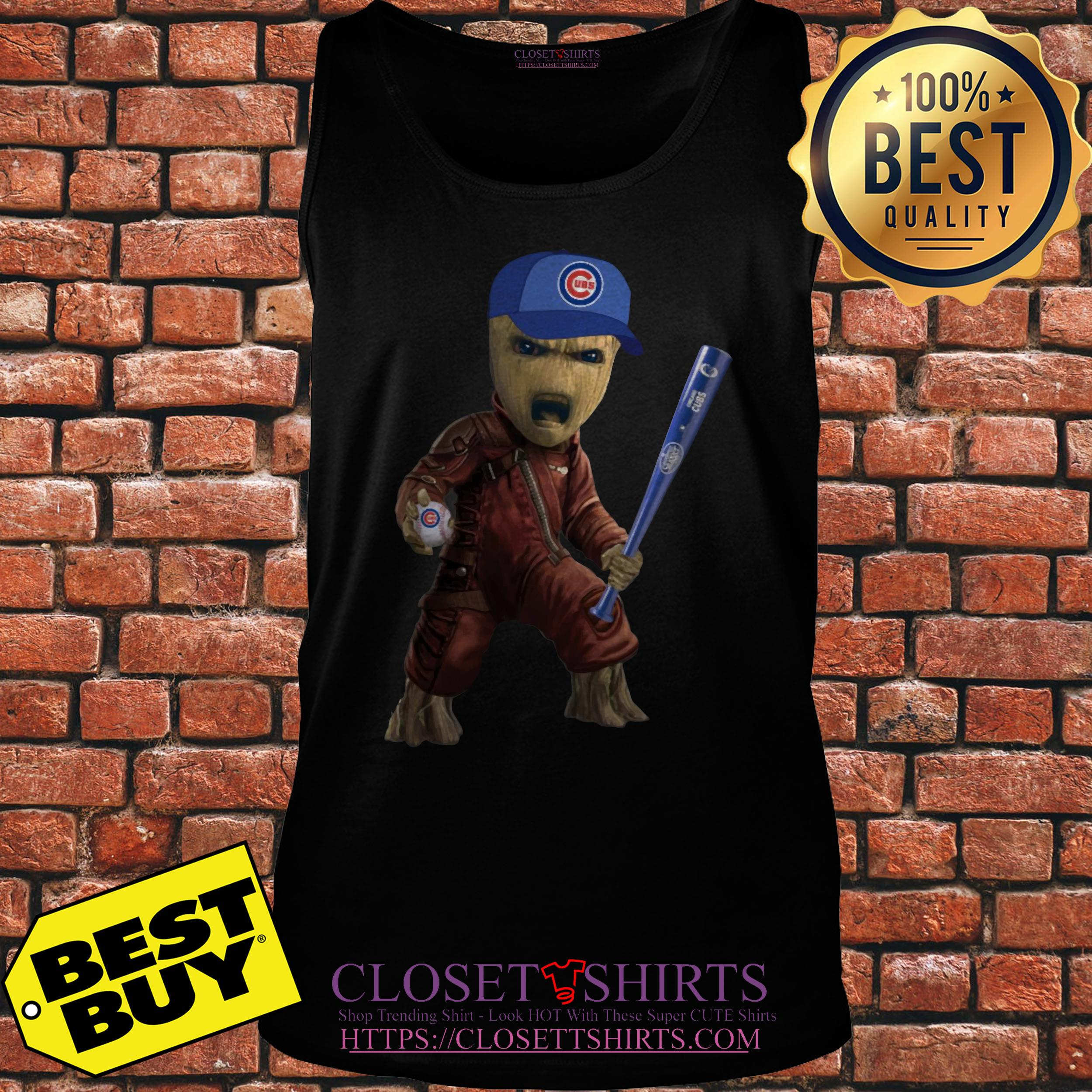 Groot I Am Chicago Cubs tank top