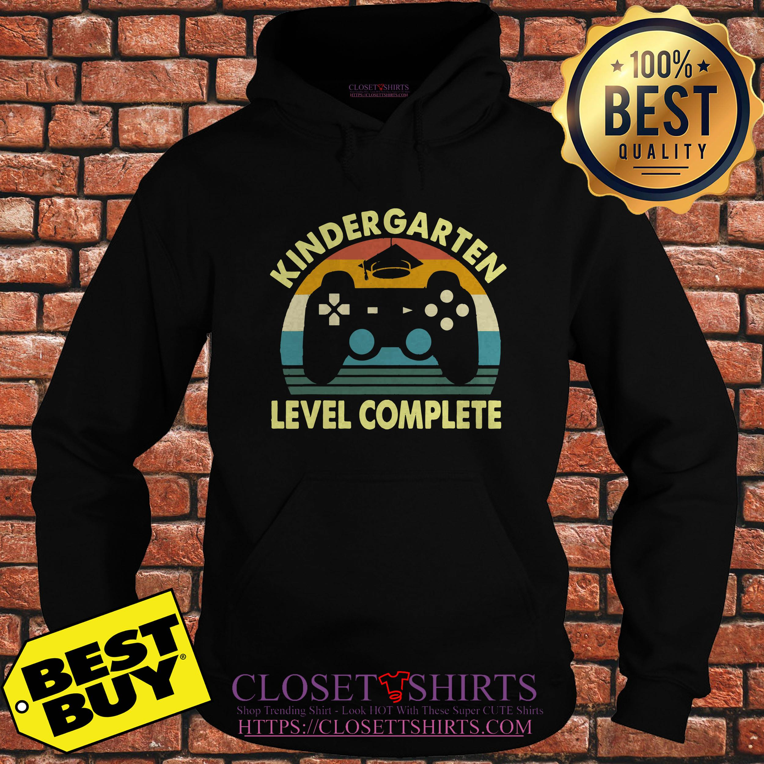 Kindergarten Level Complete Video Gamer Graduation hoodie