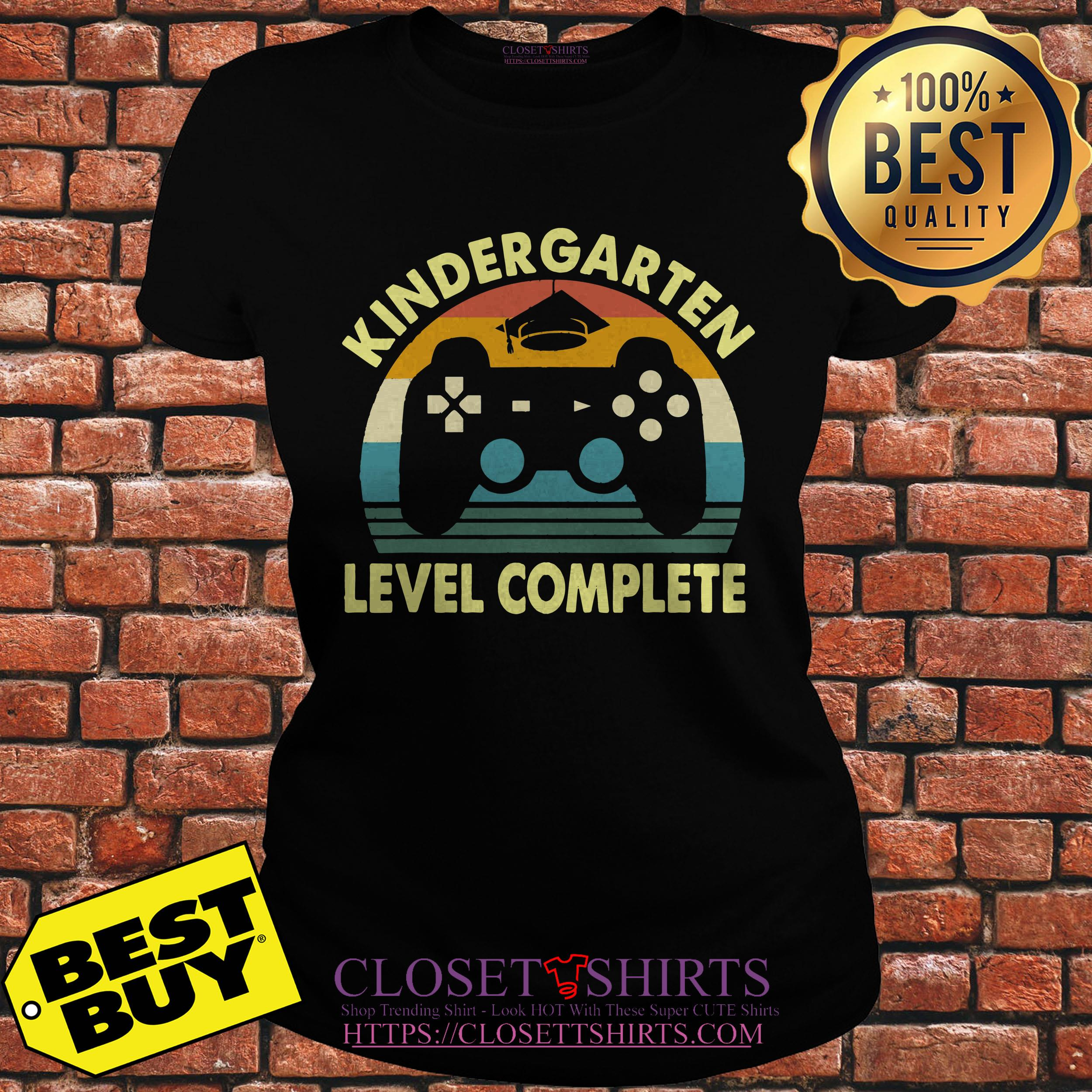 Kindergarten Level Complete Video Gamer Graduation ladies tee