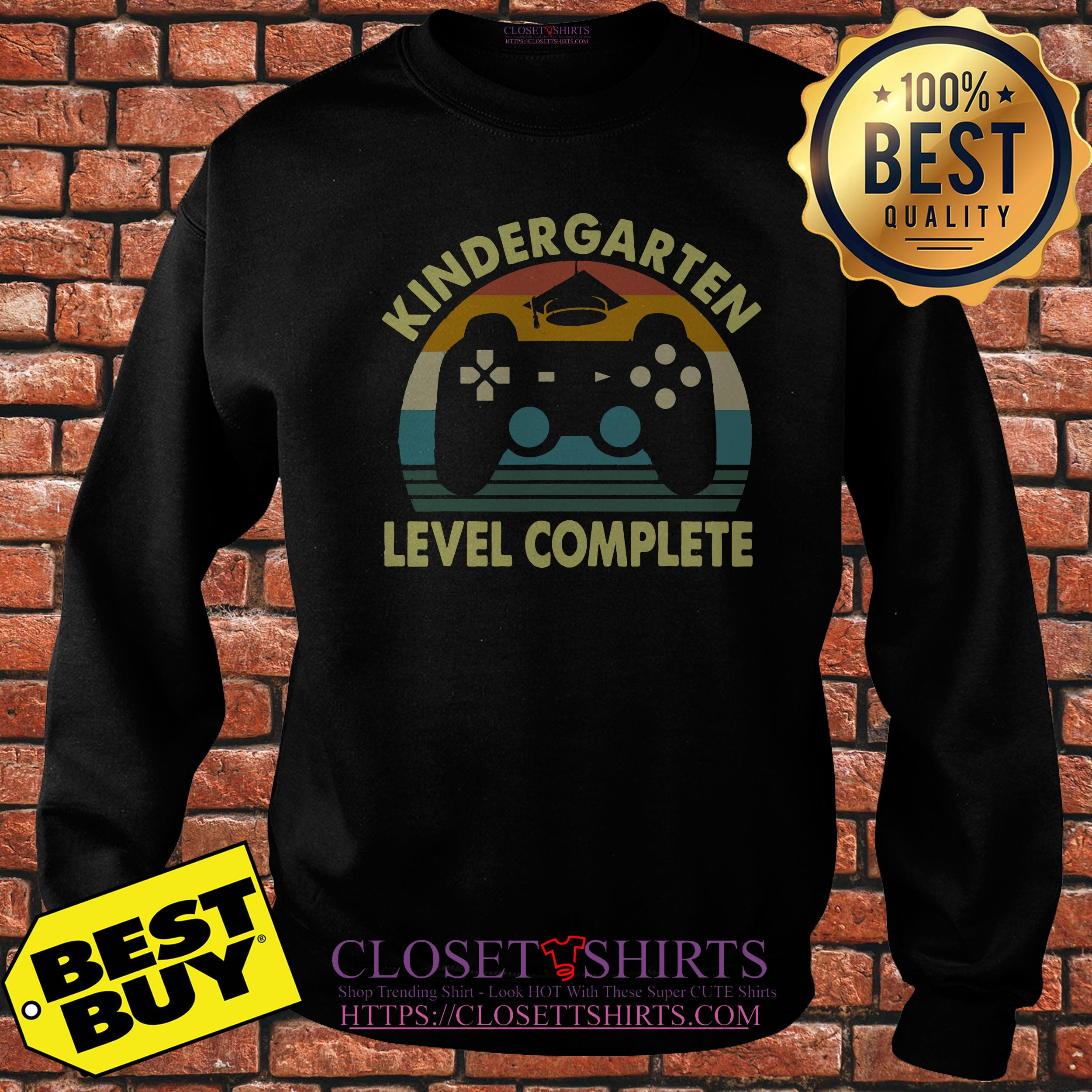 Kindergarten Level Complete Video Gamer Graduation Sweatshirt