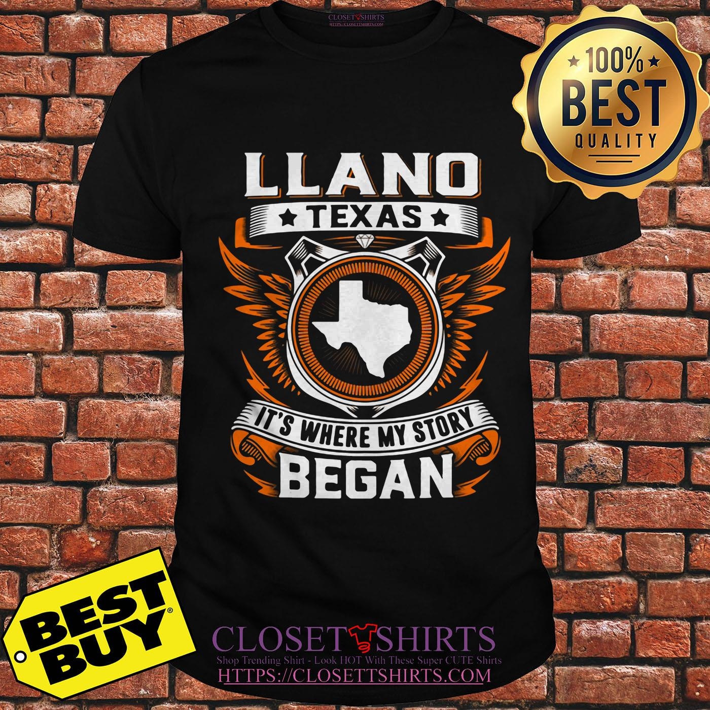 Llano Texas It's Where My Story Began v-neck