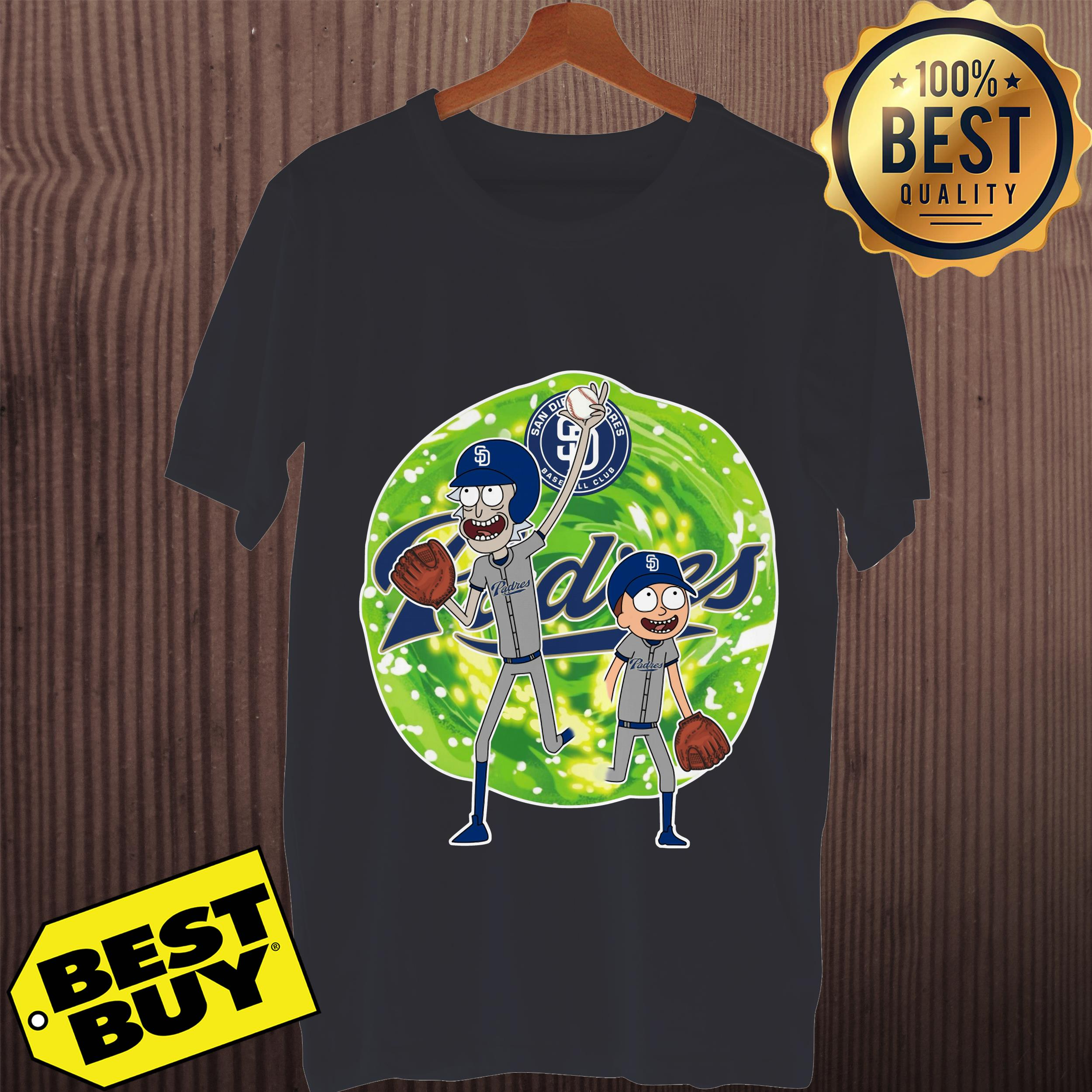 2e64fac891a MLB San Diego Padres Rick And Morty Baseball Sports Youth Shirt