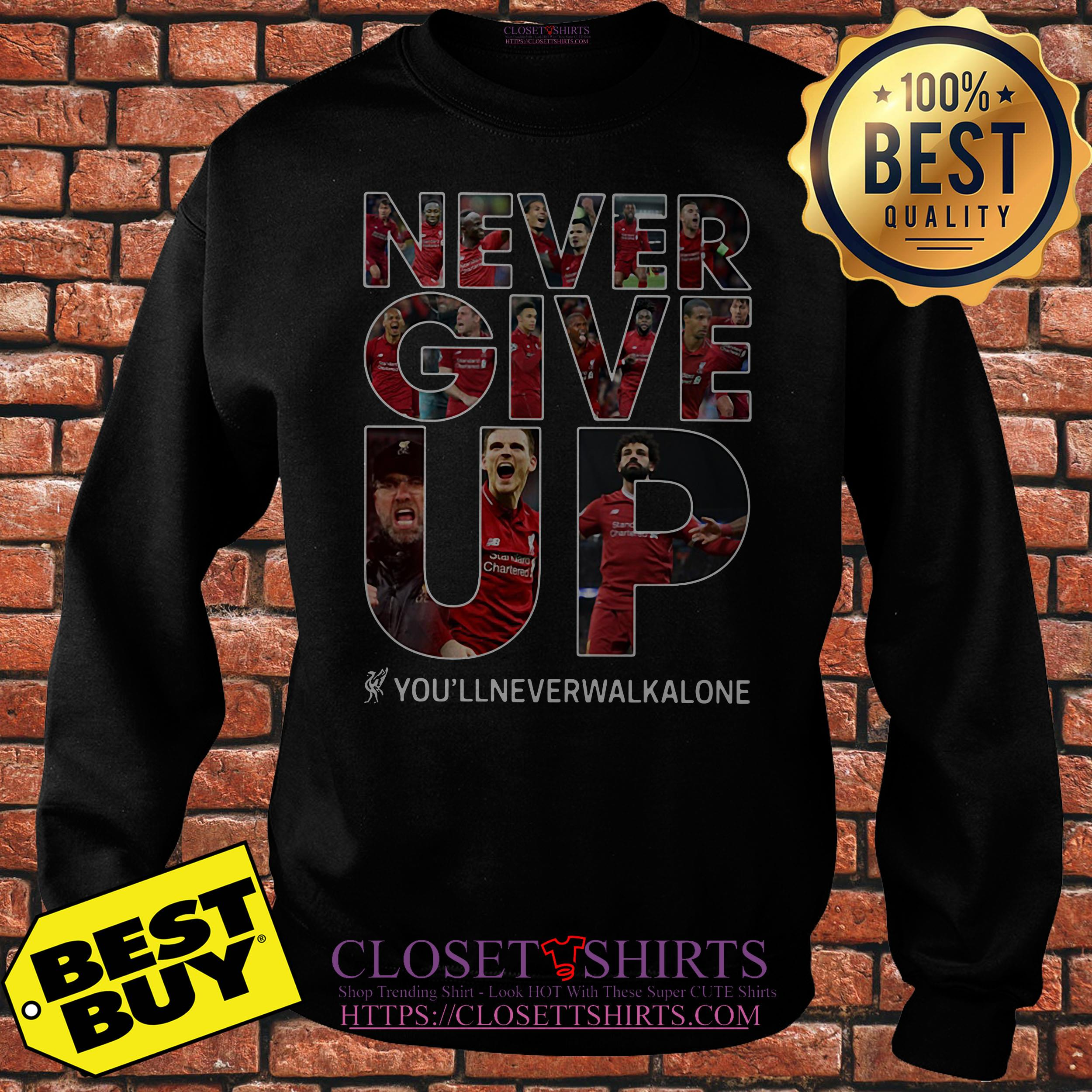 Mohamed Salah Never Give Up You'll Never Walk Alone Sweatshirt