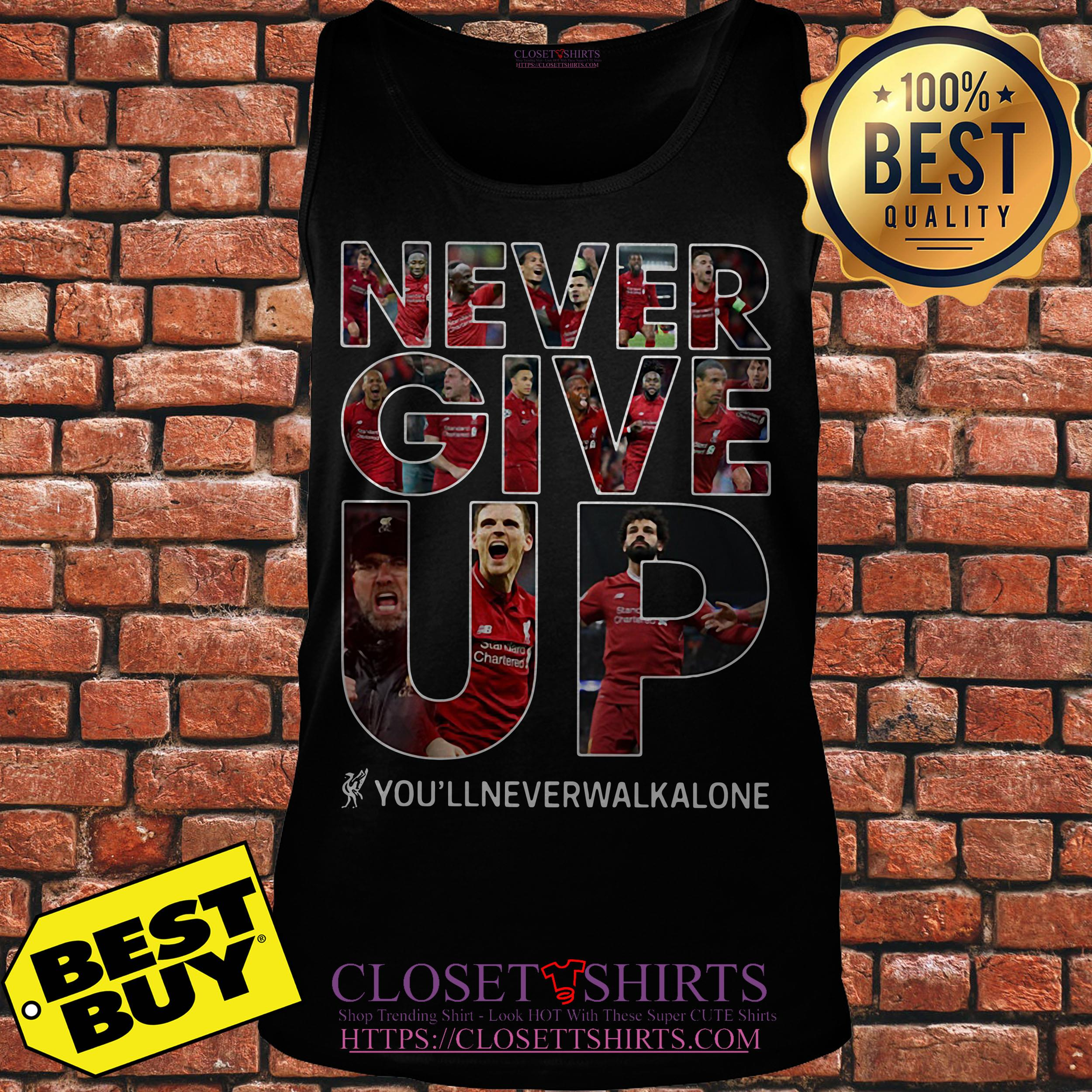 Mohamed Salah Never Give Up You'll Never Walk Alone tank top