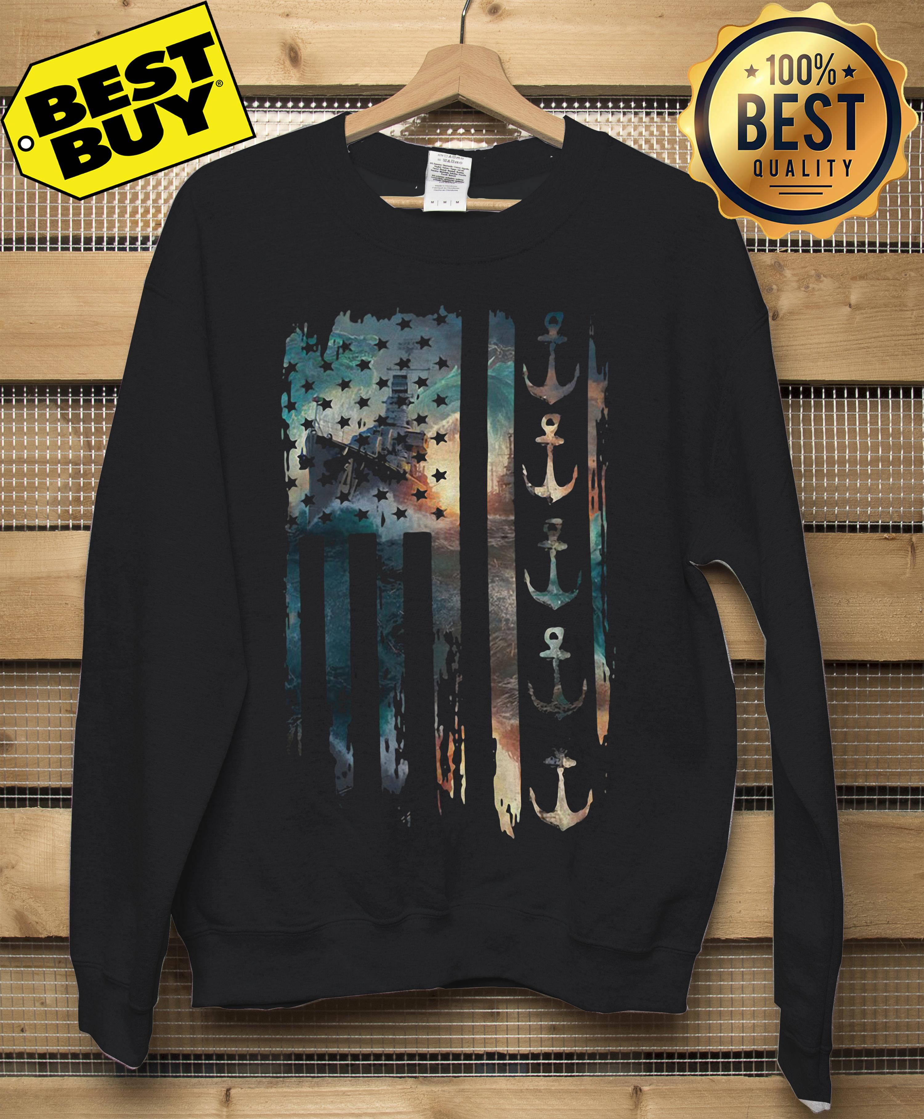 Navy Veteran Flag Sweatshirt