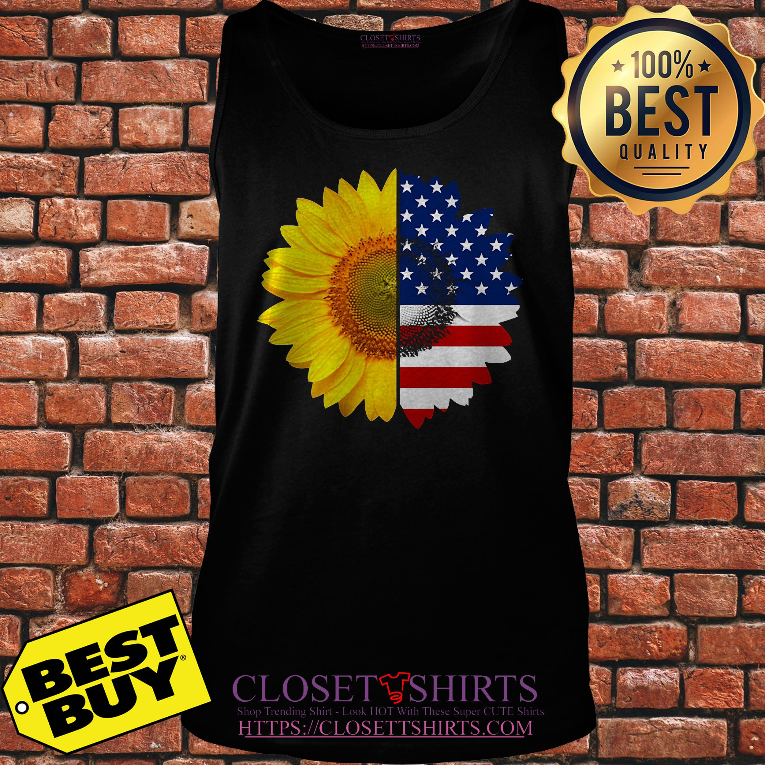 Official Sunflower American Flag tank top