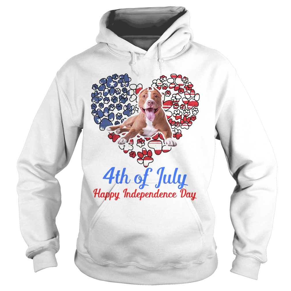 Pitbull 4th Of July Happy Independence Day hoodie