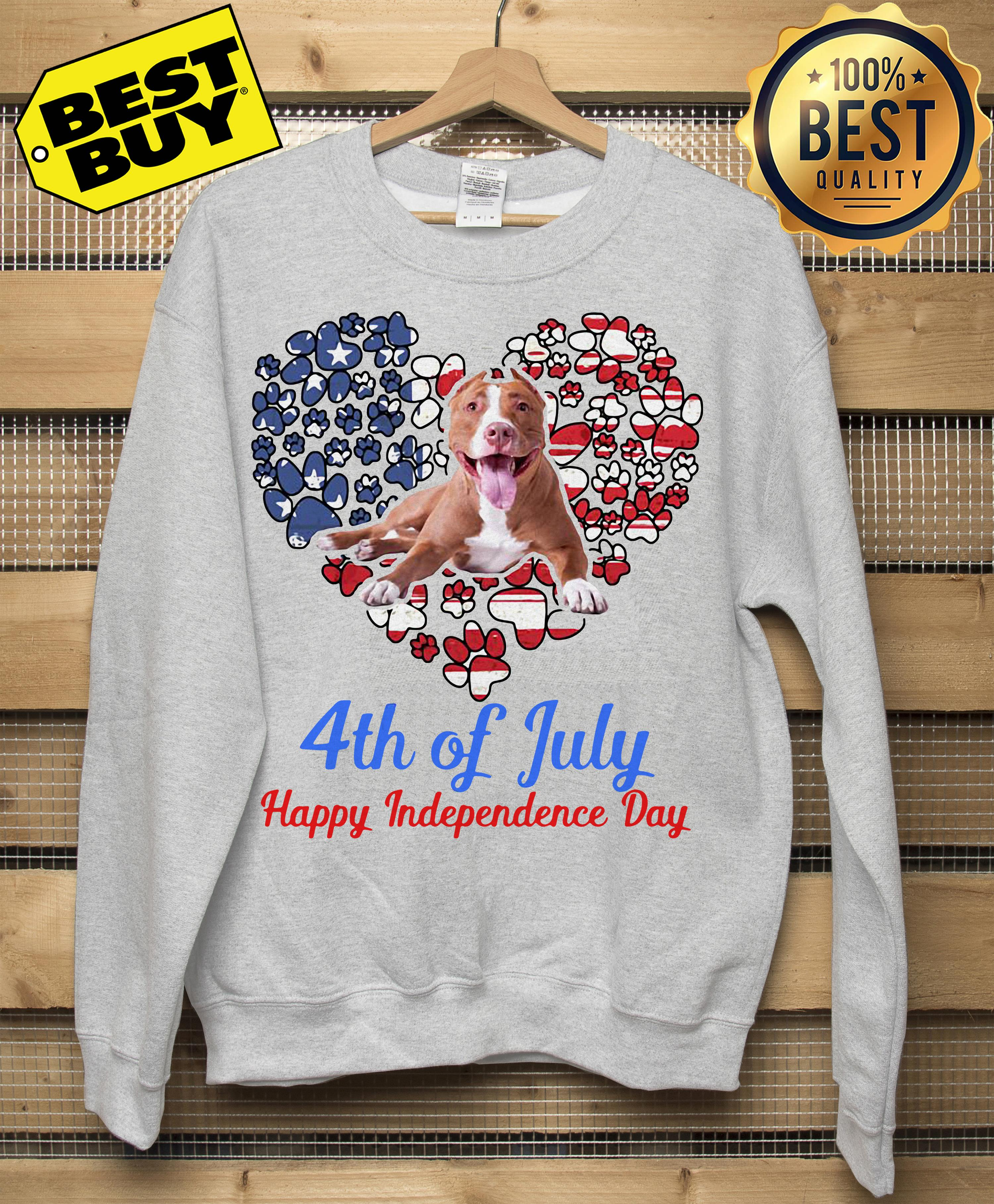 Pitbull 4th Of July Happy Independence Day Sweatshirt