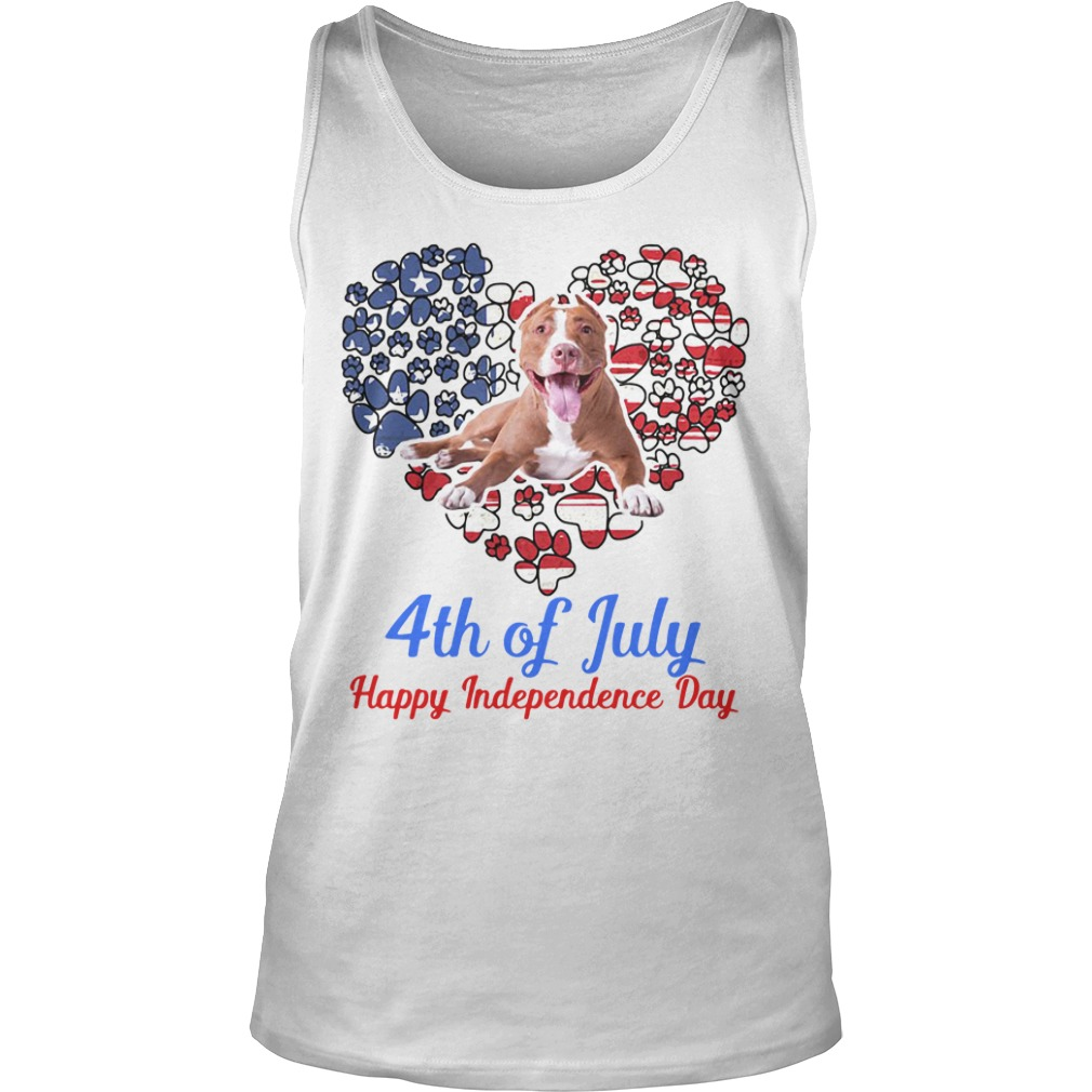 Pitbull 4th Of July Happy Independence Day tank top