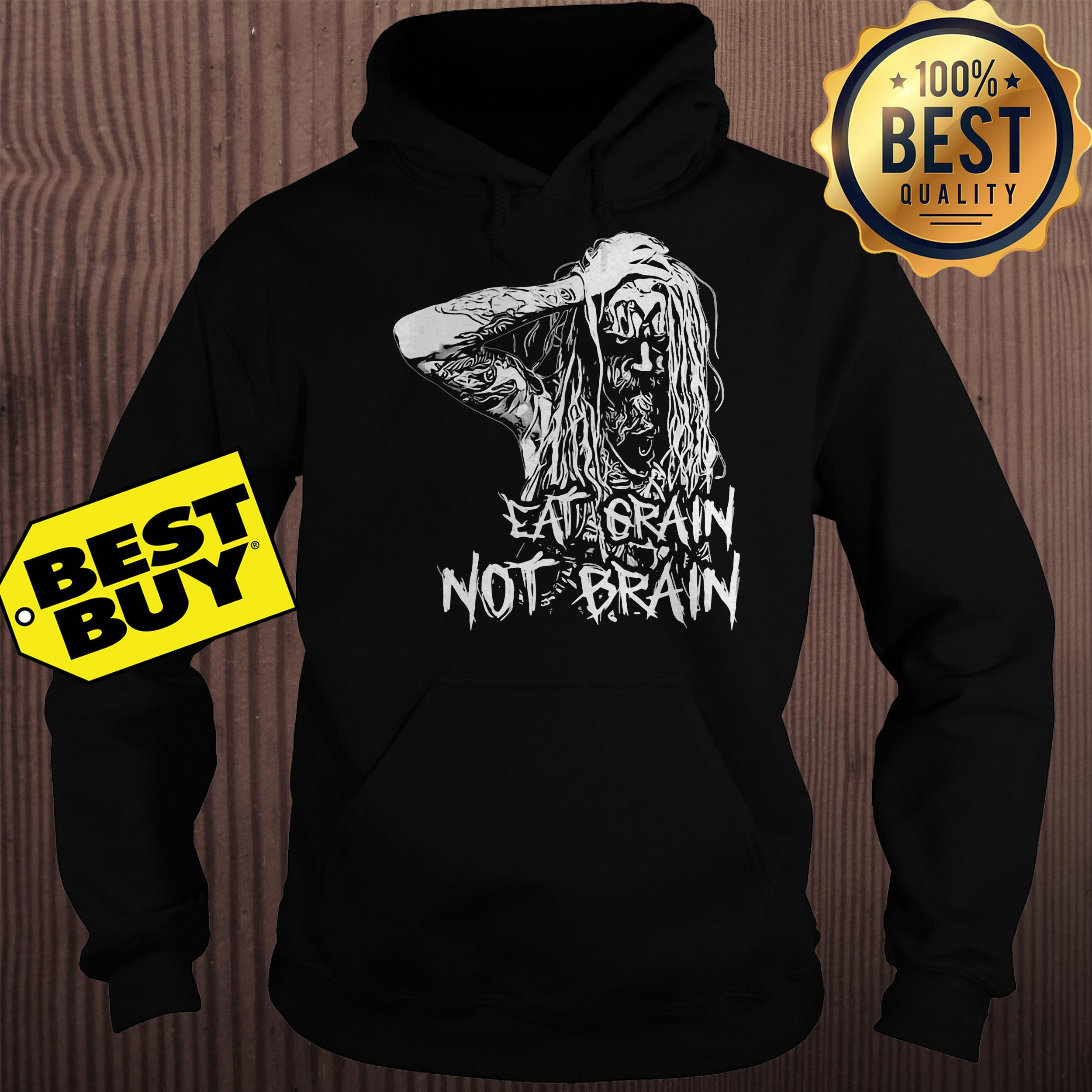 Rob Zombie Eat Grain Not Brain hoodie