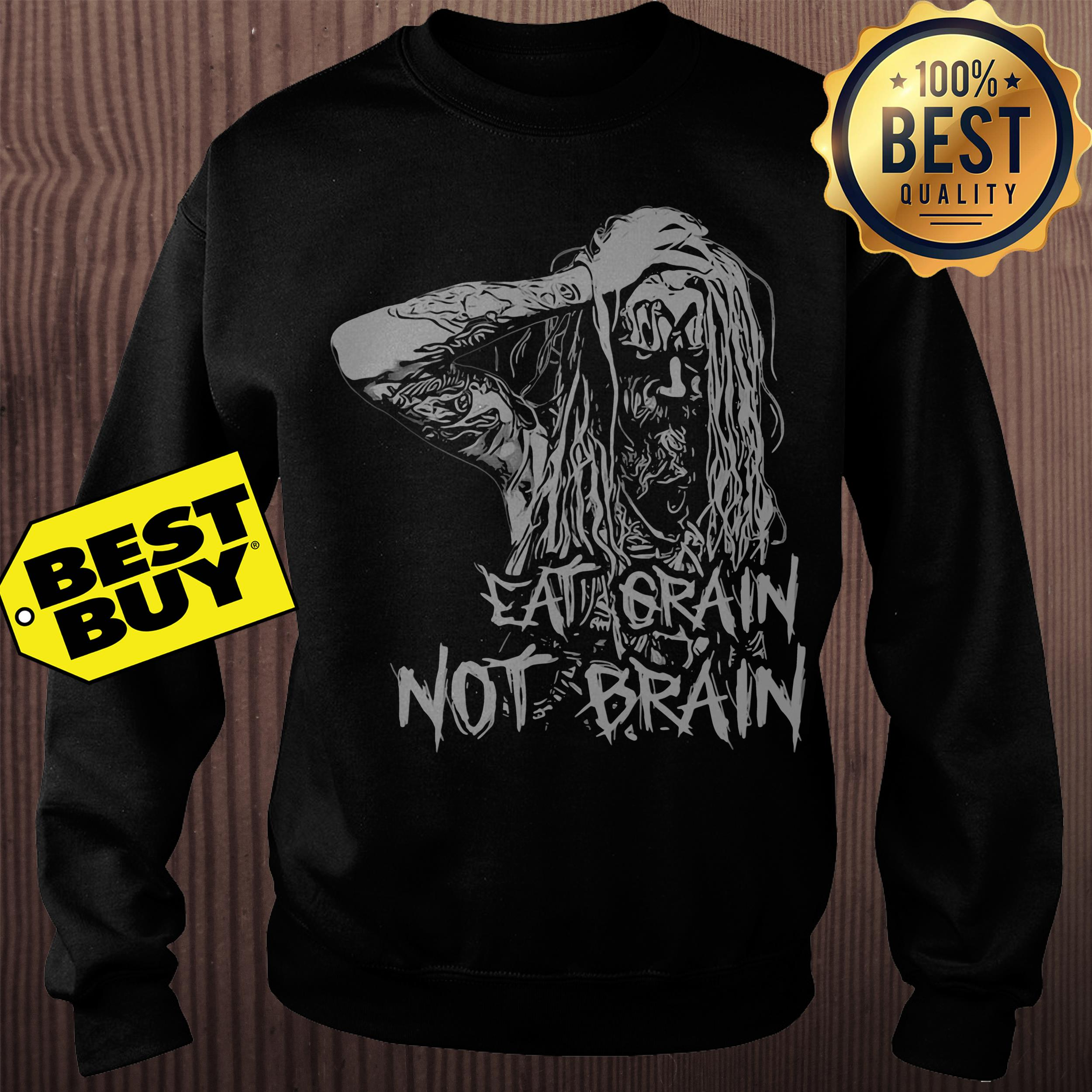 Rob Zombie Eat Grain Not Brain Sweatshirt