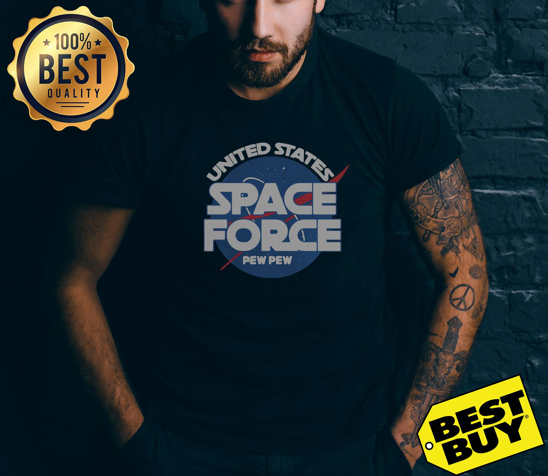 United States Space Force Pew Pew v-neck