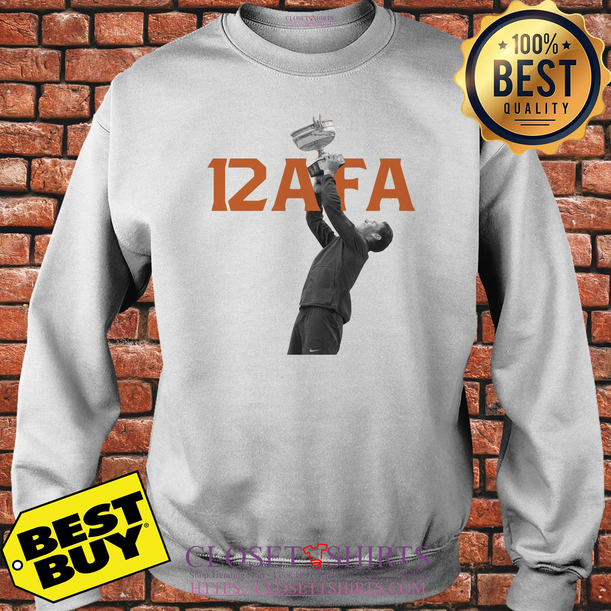 Afa12 Rafael Nadal Wins His 12th French Open Title Sweatshirt