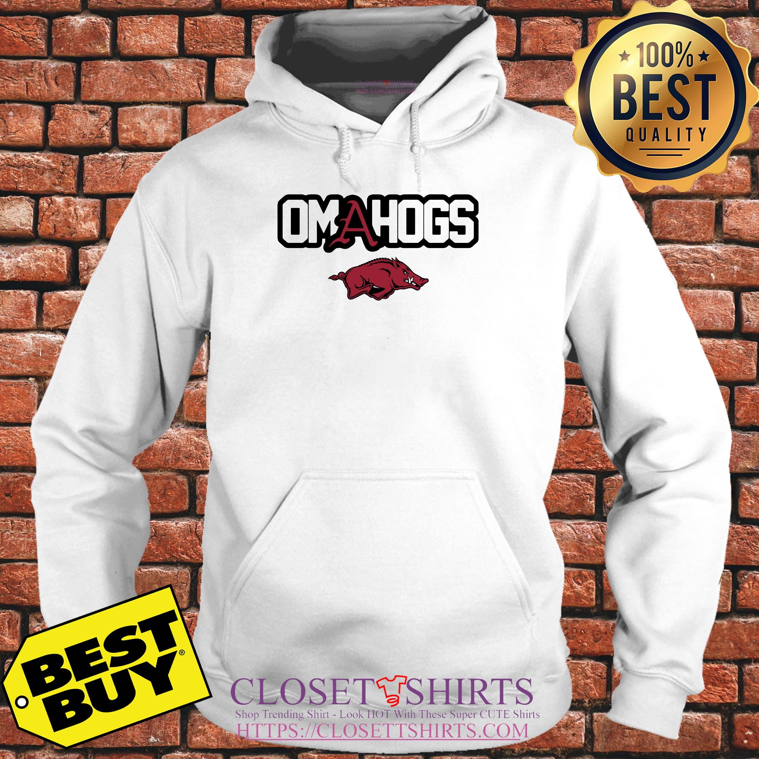Arkansas Razorbacks College World Series Omahogs hoodie