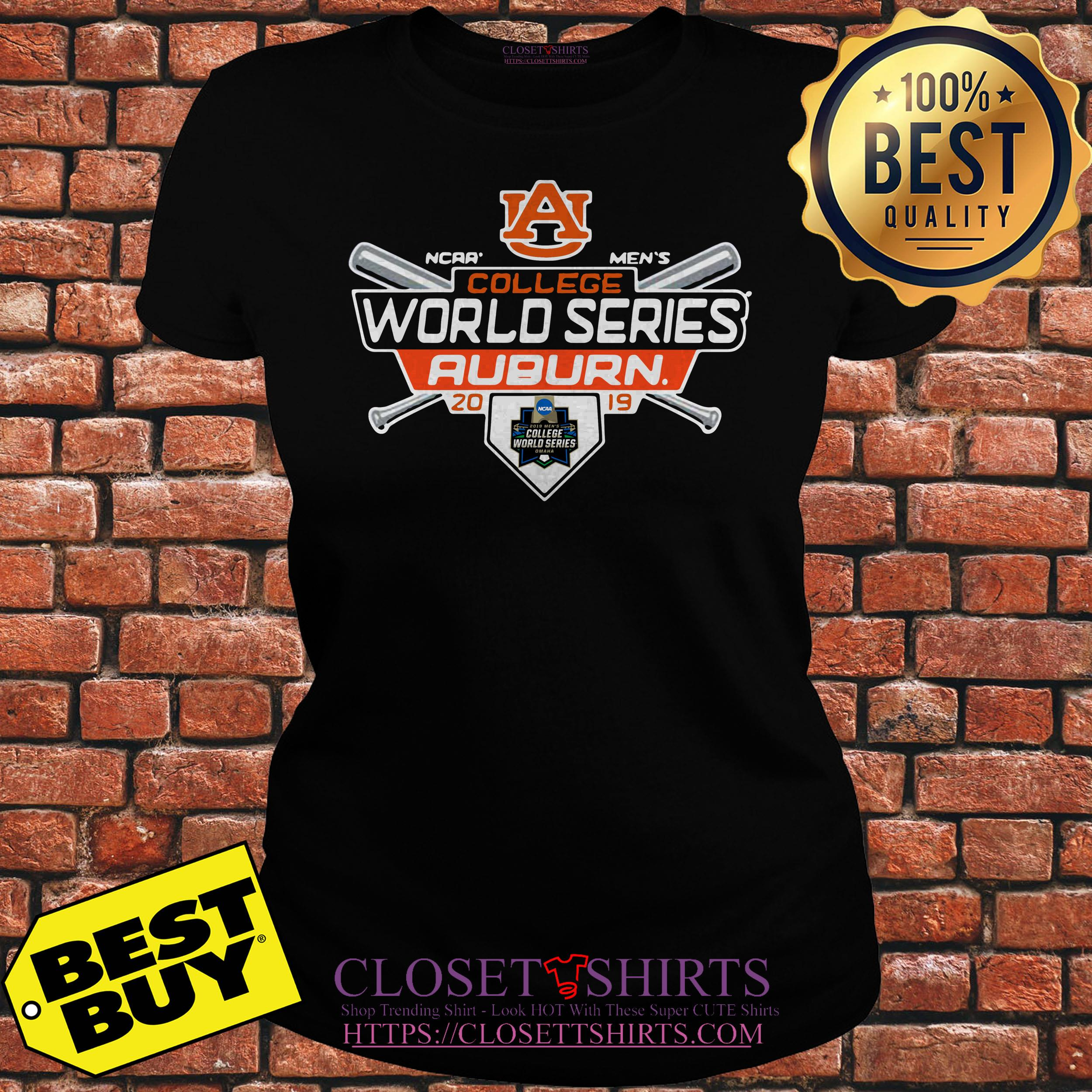Auburn Tigers Fanatics Branded 2019 Ncaa Baseball Men's College World ladies tee