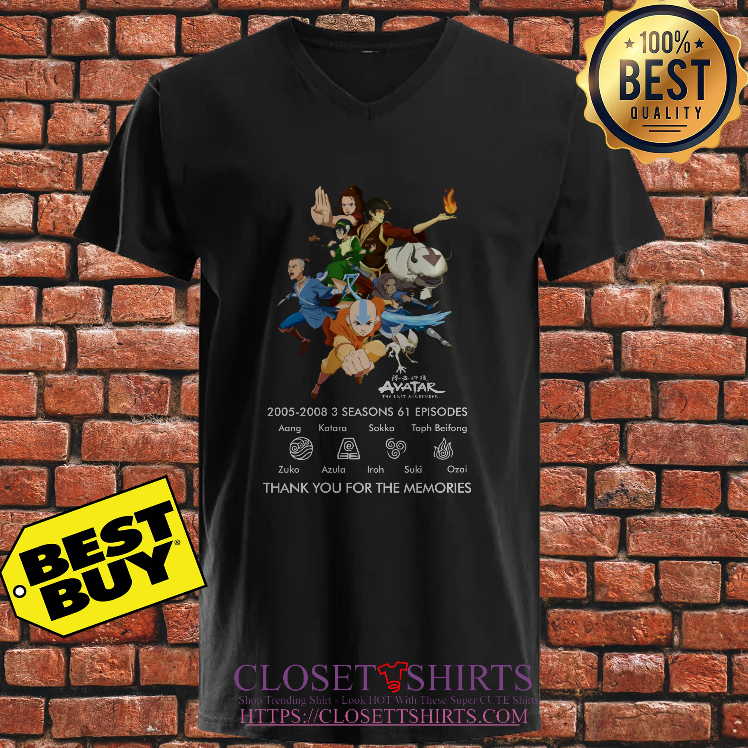 Avatar The Last Airbender 2005 2008 3 Thank You For The Memories ladies tee