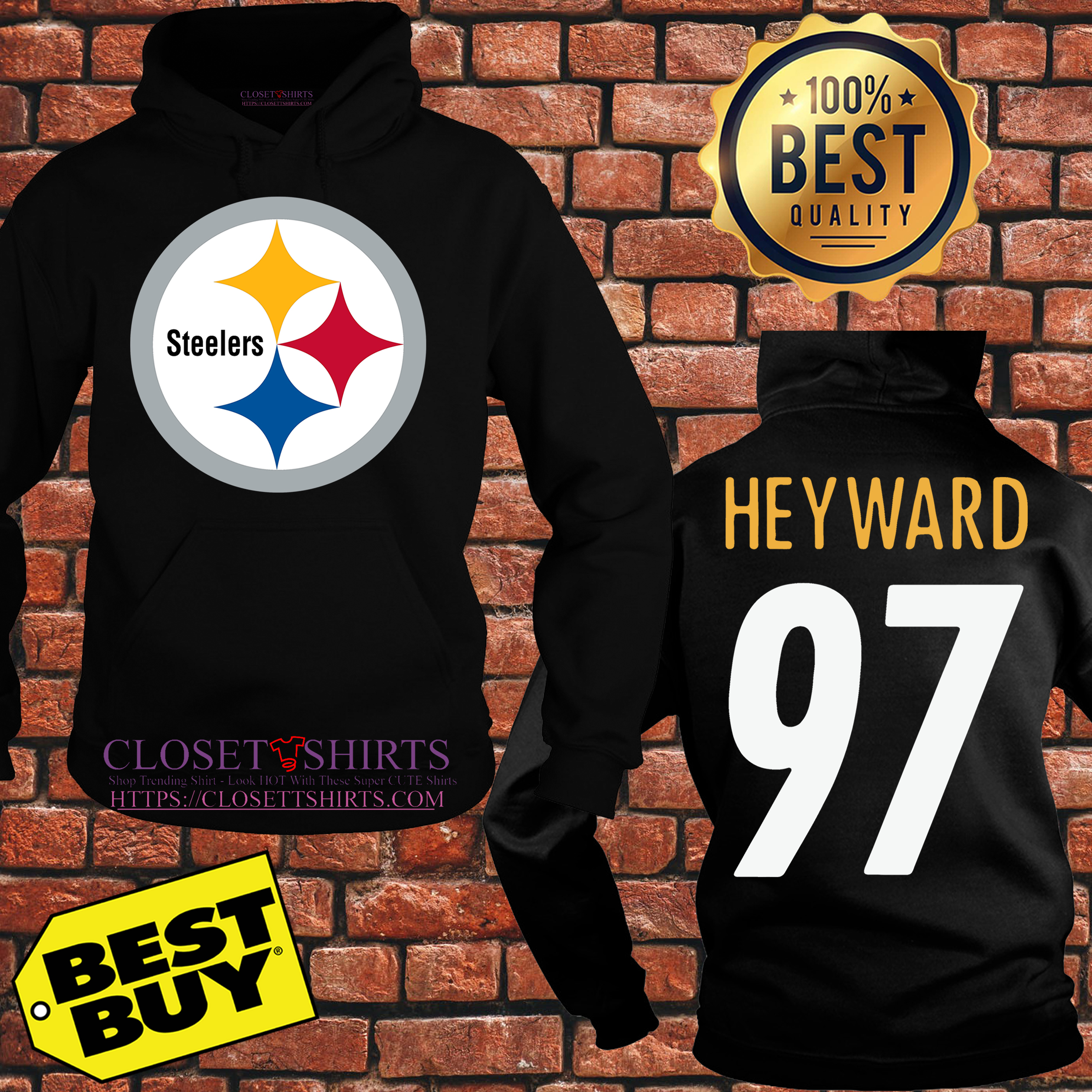 online store c6591 516d1 Cameron Heyward Pittsburgh Steelers Youth Black Pro Line shirt