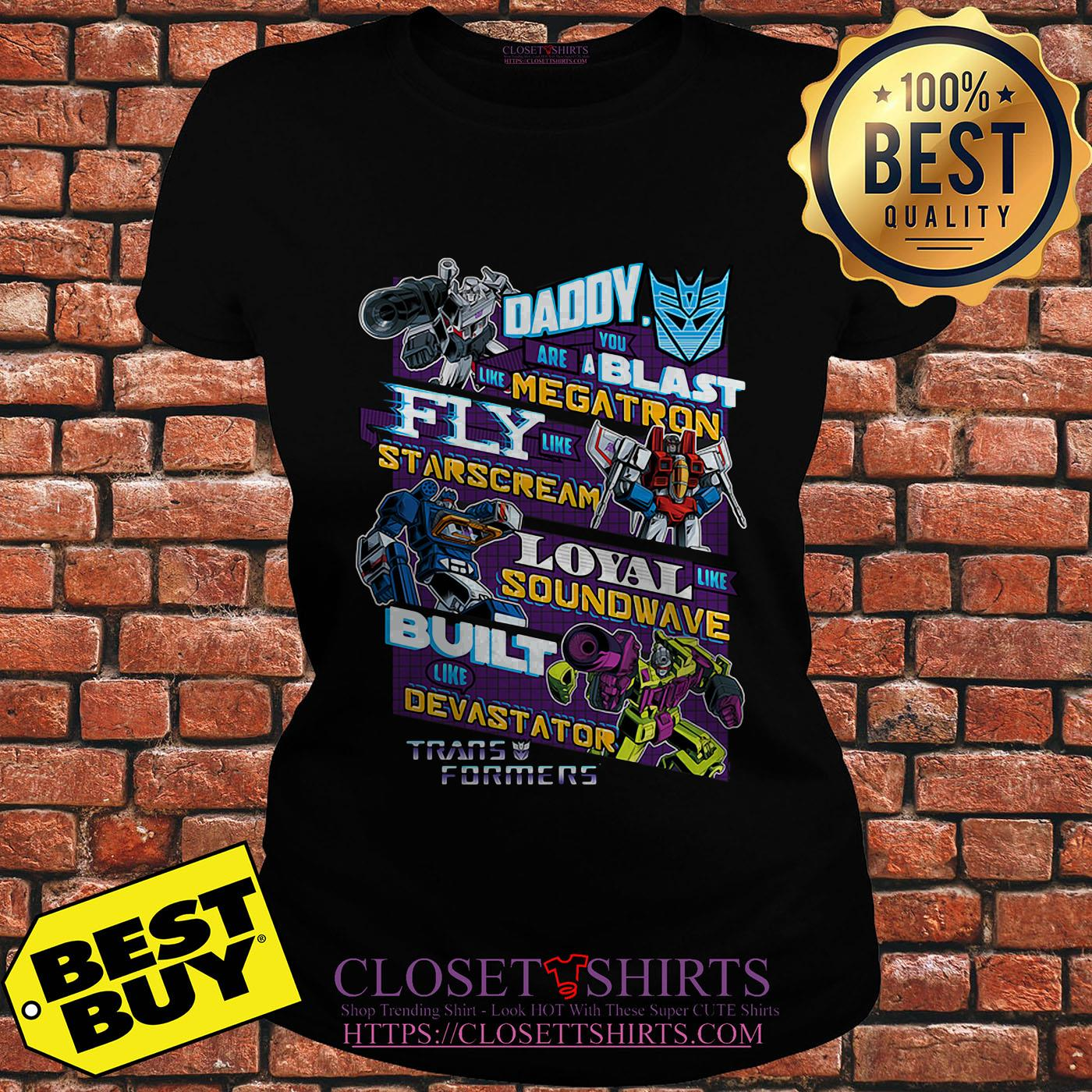Decepticons Father's Day Transformers ladies tee