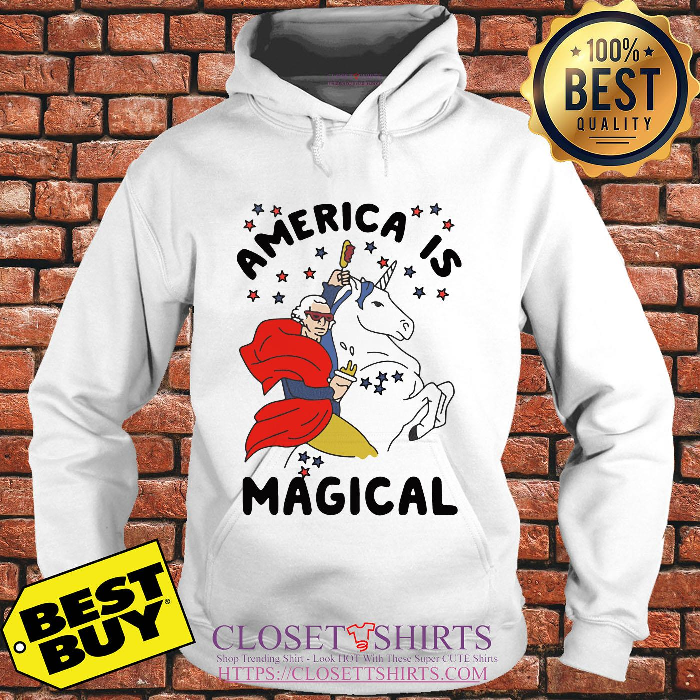 George Washington America Is Magical Unicorn hoodie