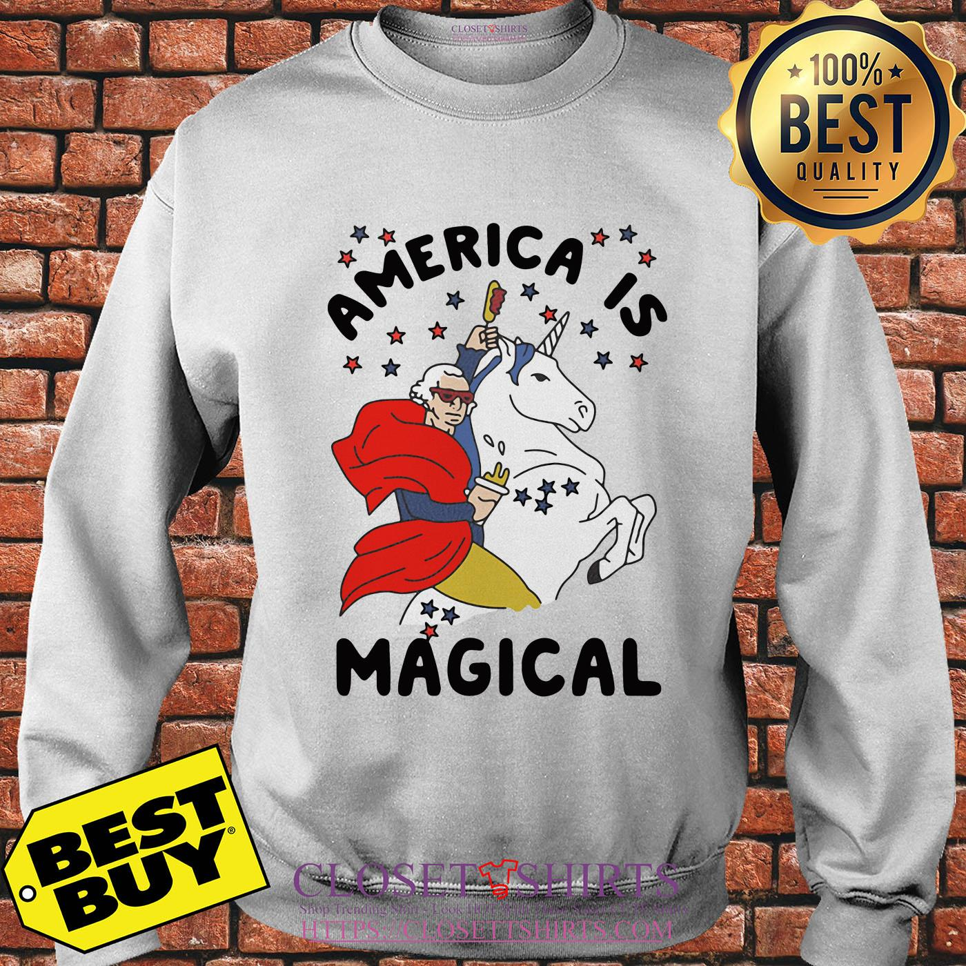 George Washington America Is Magical Unicorn Sweatshirt