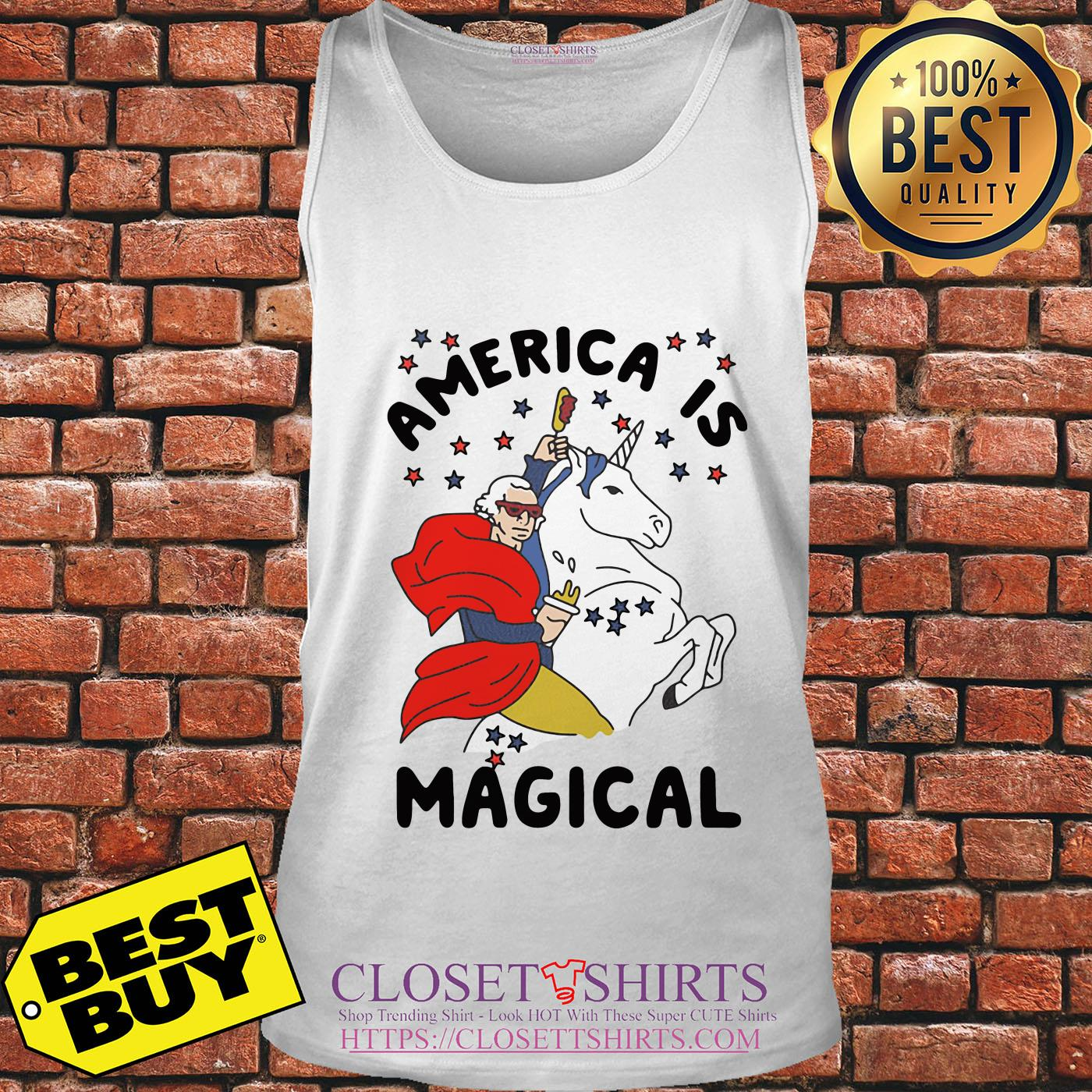 George Washington America Is Magical Unicorn tank top