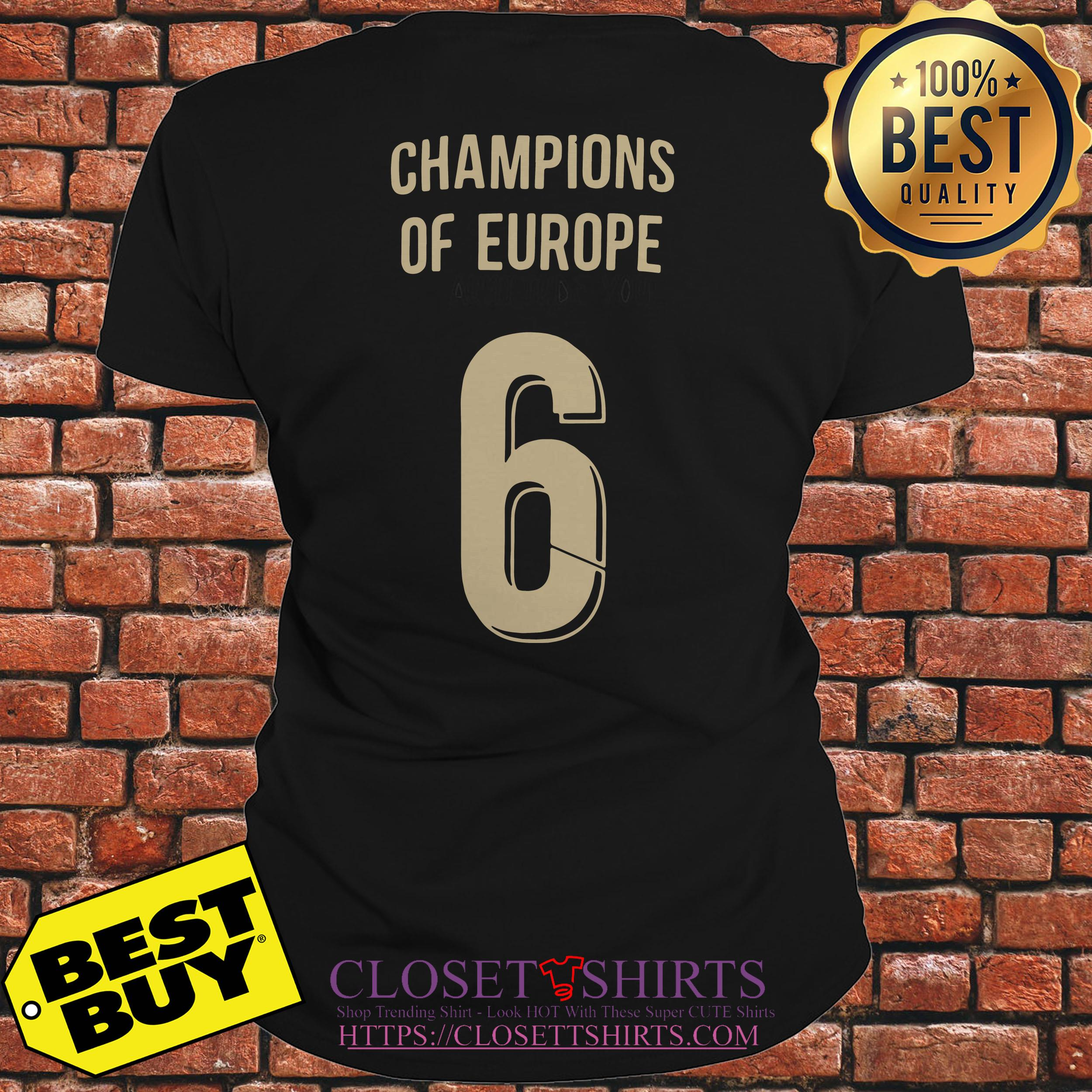 Liverpool Trophy Champions Of Europe 6 ladies tee