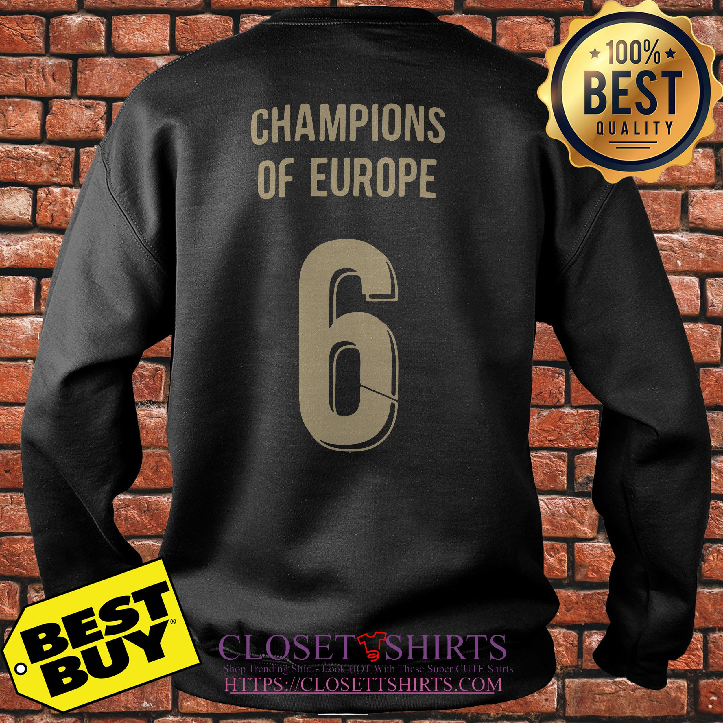 Liverpool Trophy Champions Of Europe 6 Sweatshirt