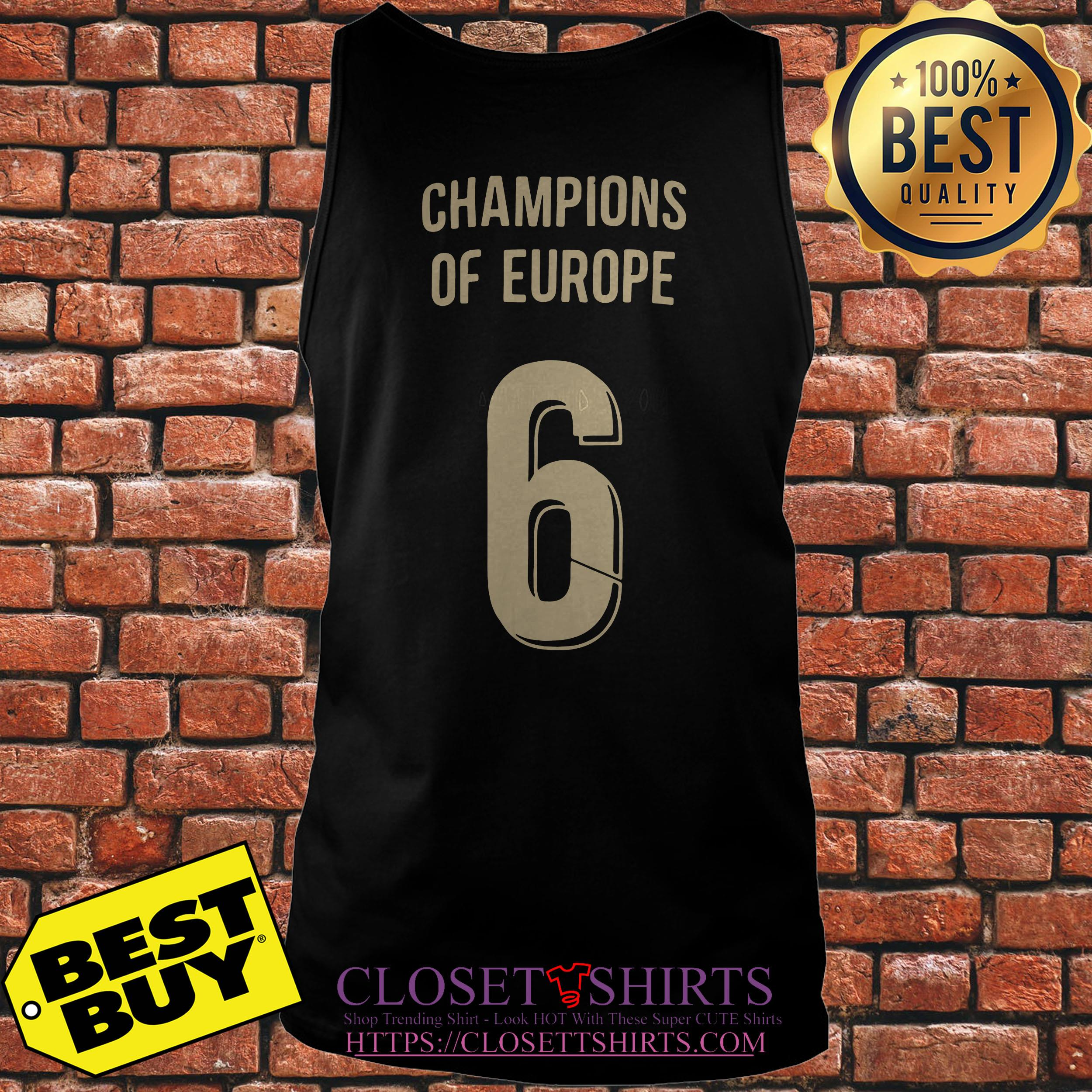 Liverpool Trophy Champions Of Europe 6 tank top