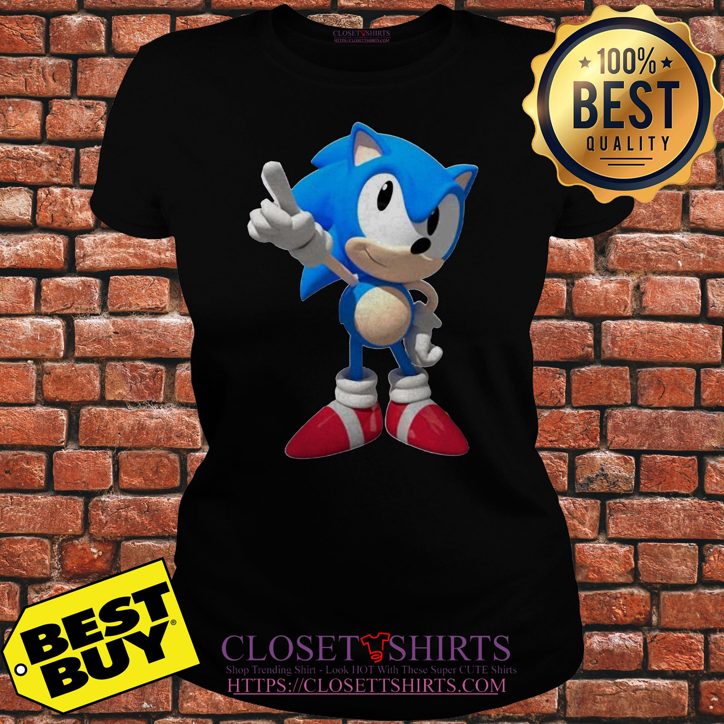 Sega Sonic Hedgehog V Neck