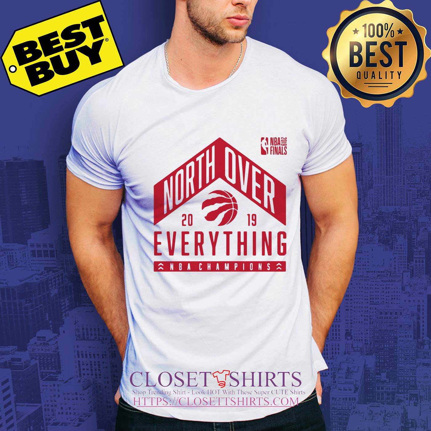 Tech Hometown Toronto Raptors North Over 2019 Nba Finals Champions v-neck