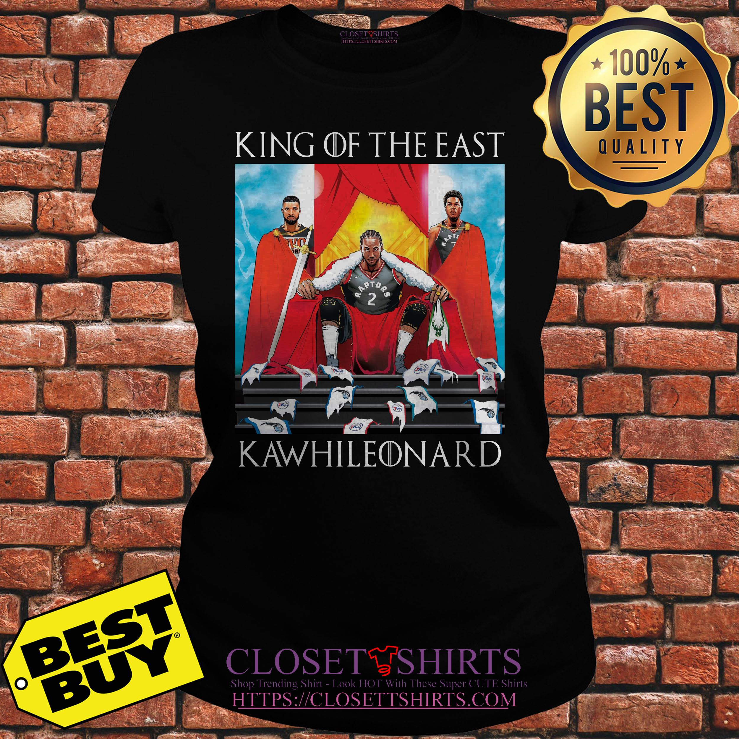 Toronto Raptors King Of The East Kawhi Leonard ladies tee