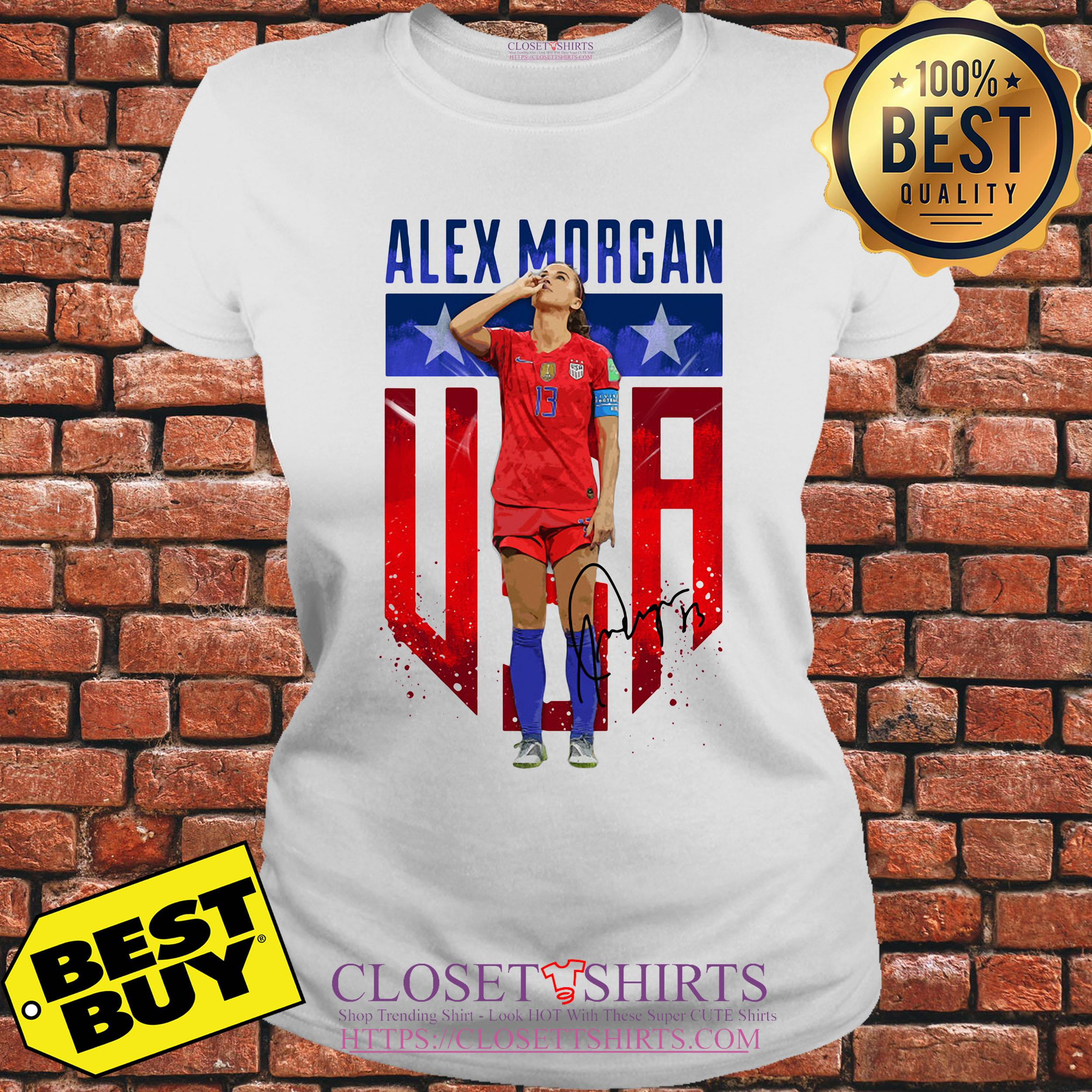 Alex Morgan Signature Usa Team Soccer ladies tee