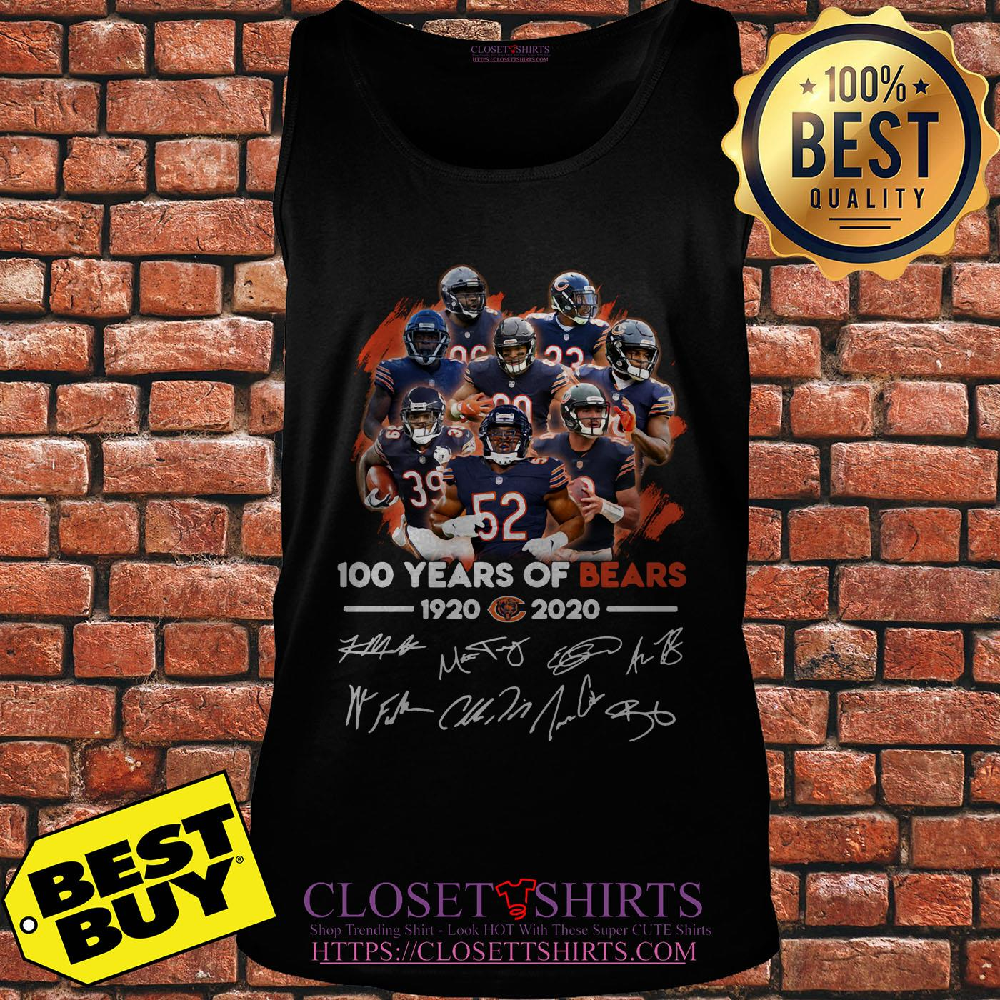 100 Years Of 1920 2020 Chicago Bears Signatures Shirt