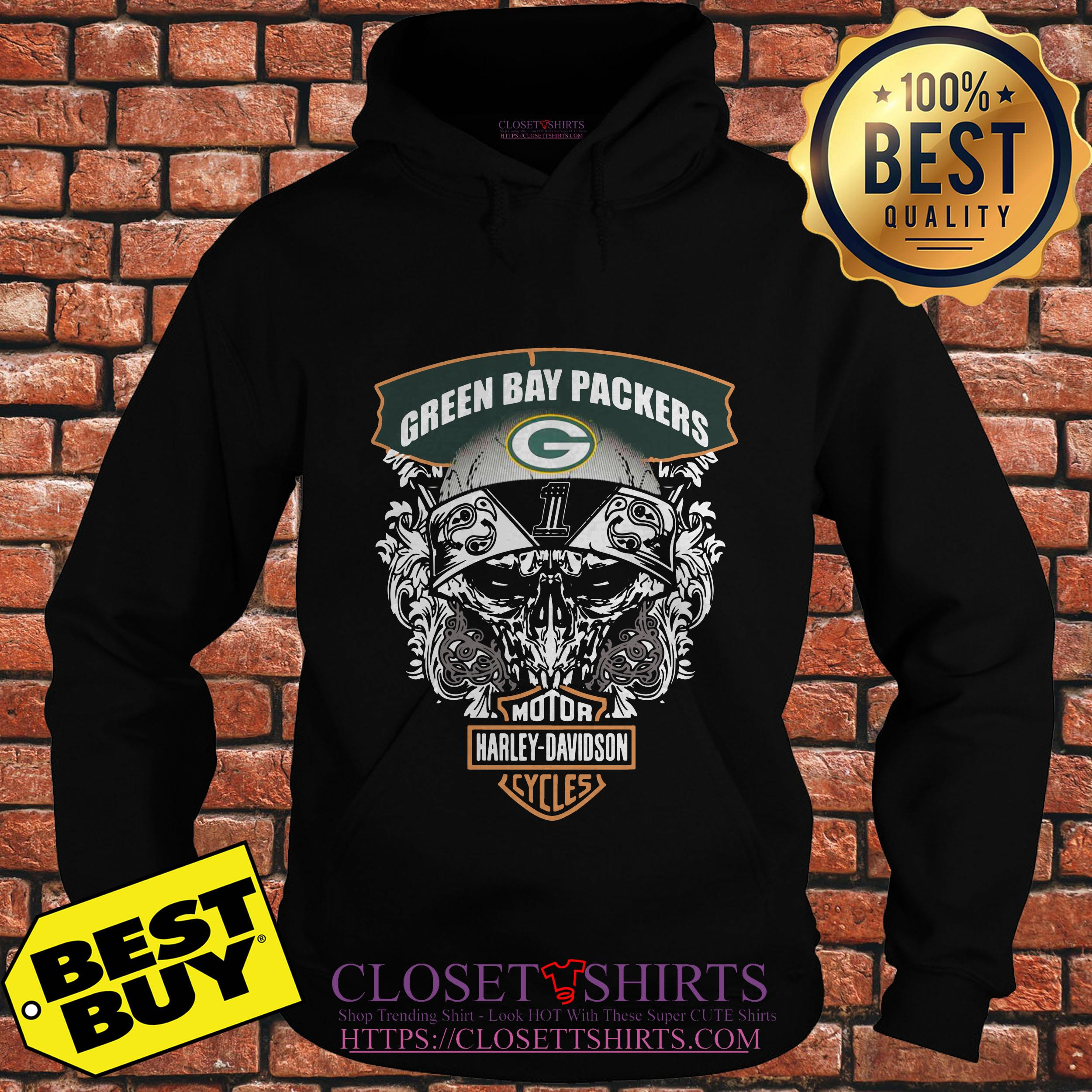 Green Bay Packers Harley Davidson Cycles hoodie