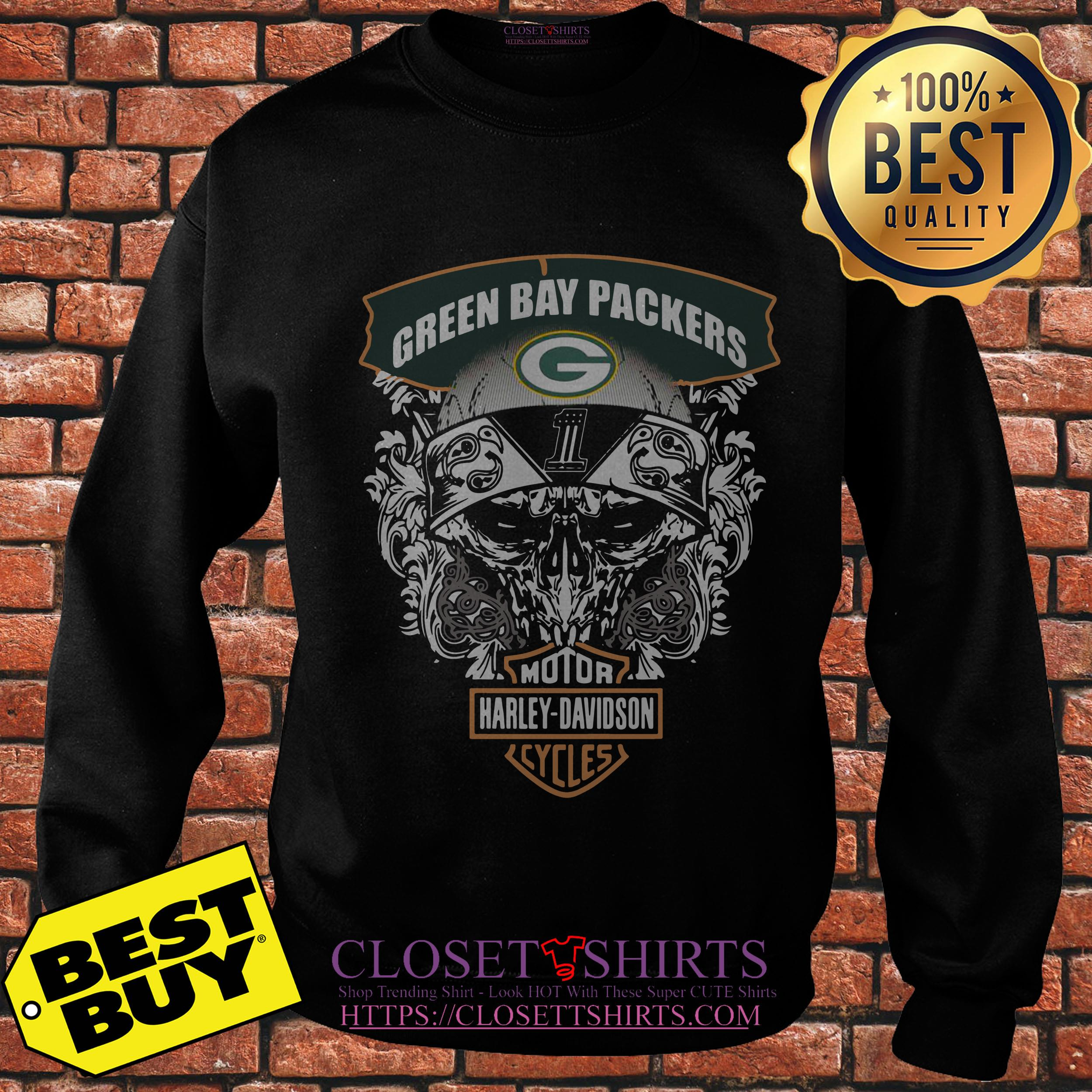 Green Bay Packers Harley Davidson Cycles sweatshirt