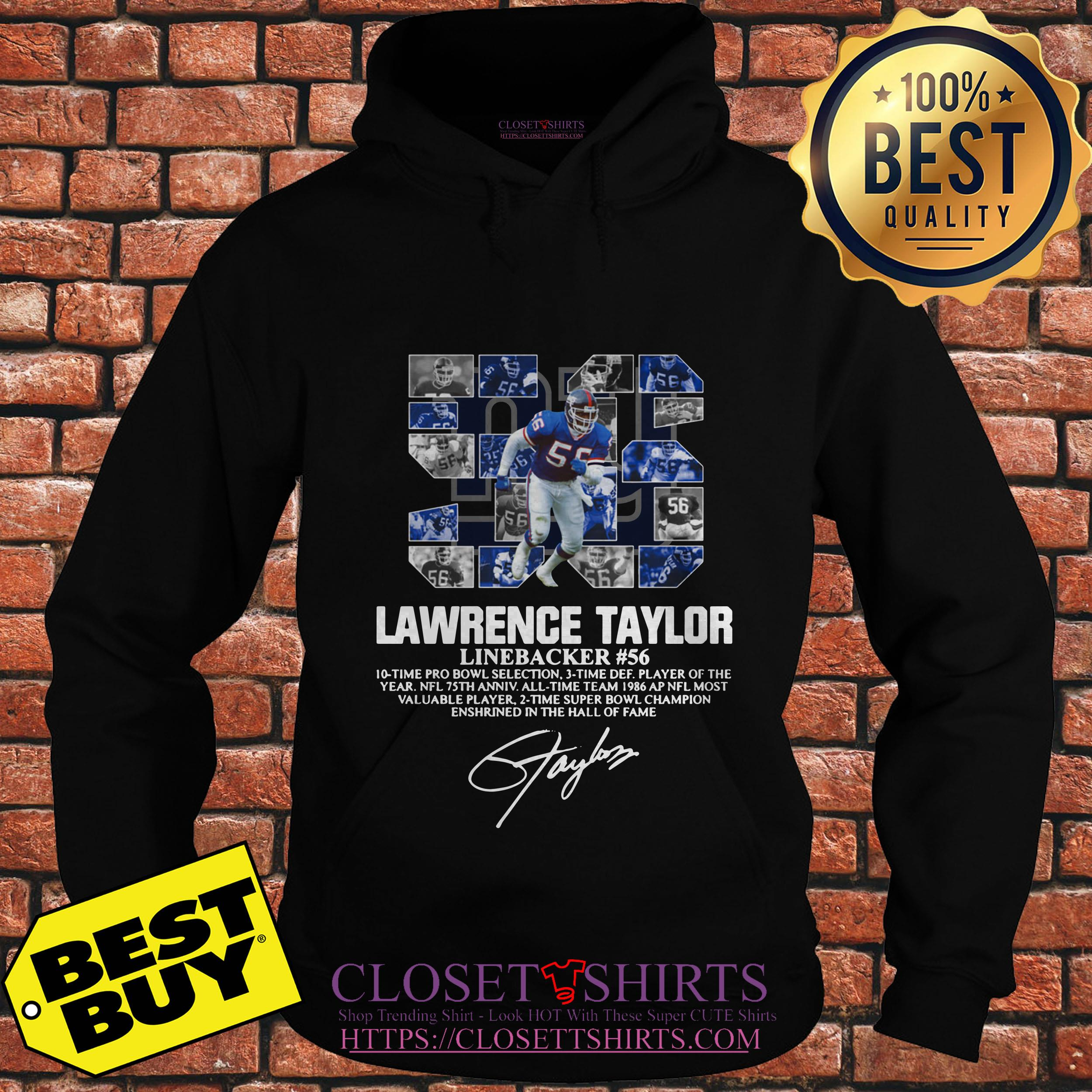 Lawrence Taylor Linebacker 56 New York Giants Signature hoodie
