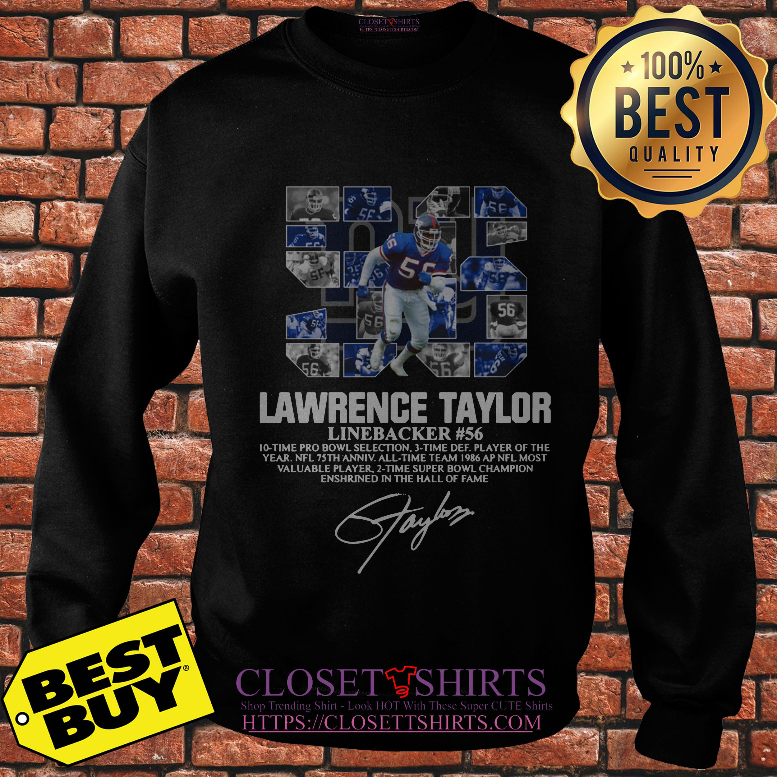 Lawrence Taylor Linebacker 56 New York Giants Signature sweatshirt